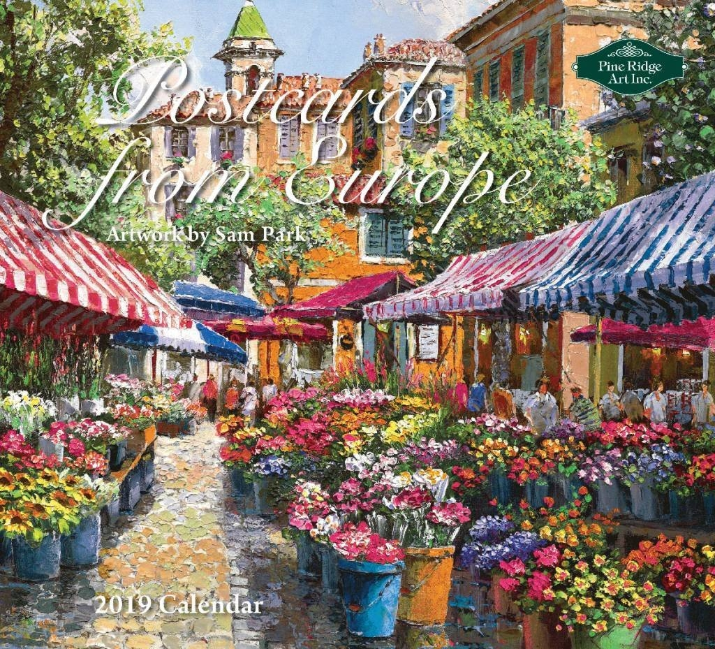 Postcards From Europe 2019 Wall Calendarpine Ridge Art, Postage Calendar 2019 Europe