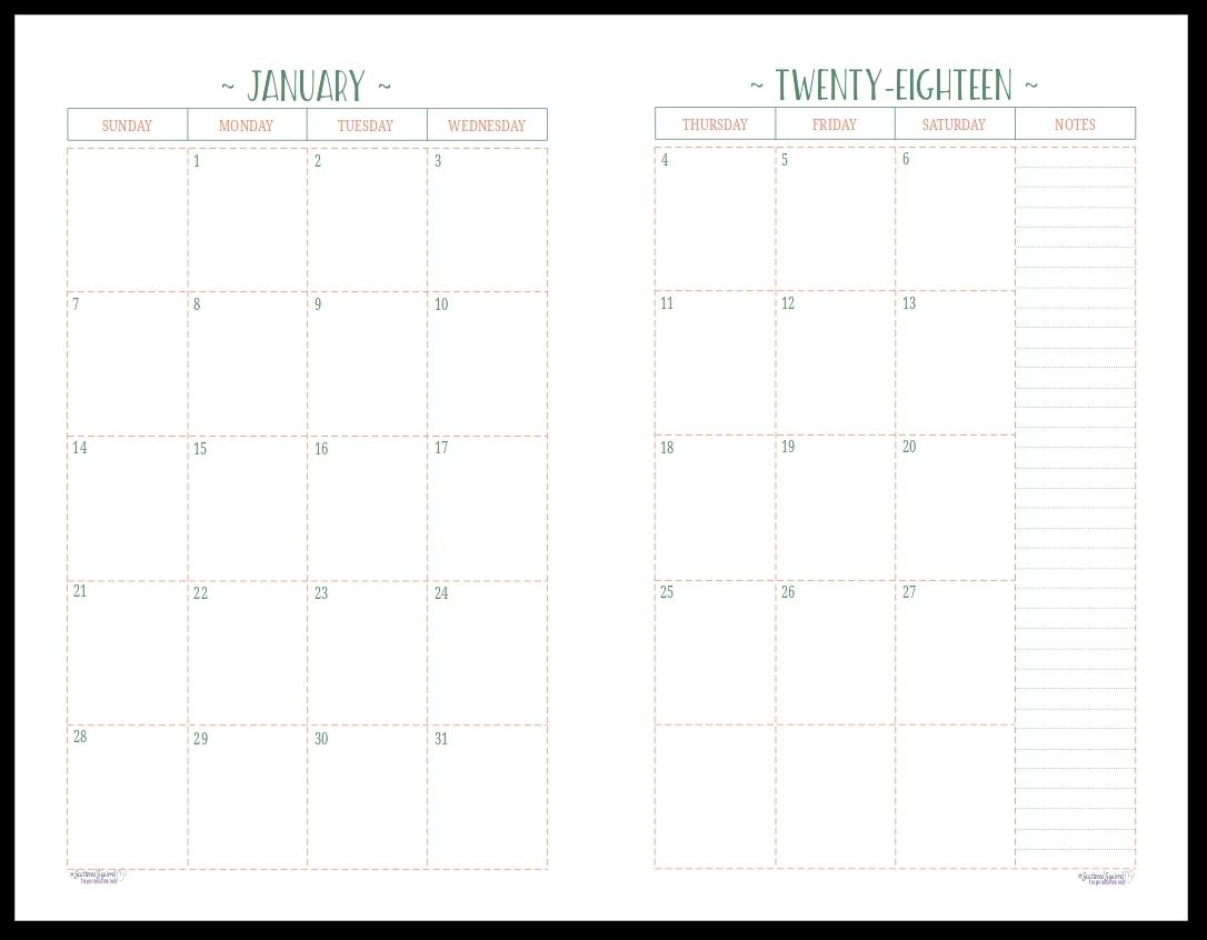 Printable 2 Page Monthly Calendar | Printable Calendar Templates 2019 2 Page Monthly Calendar 2019 Printable