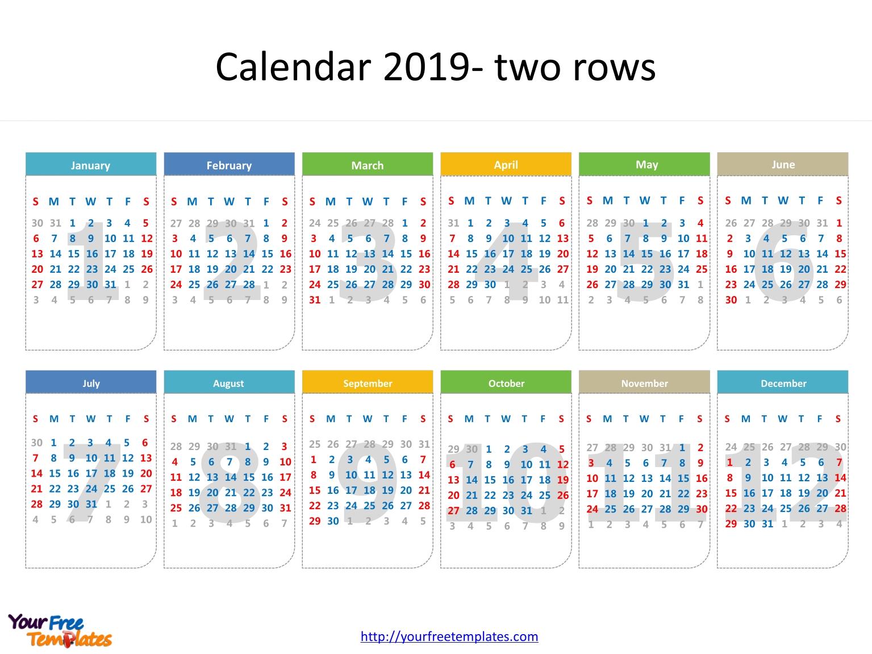 Printable Calendar 2019 Template - Free Powerpoint Templates 3/2019 Calendar