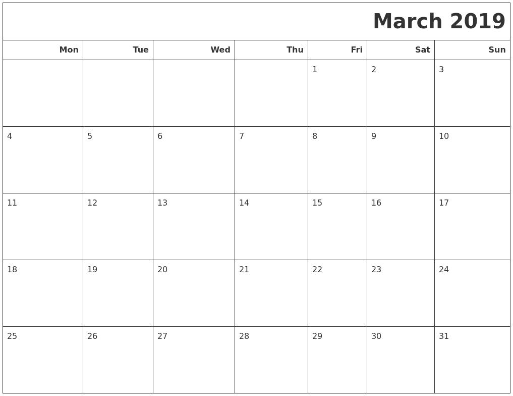 Printable Calendar Templates - Calendar Zoom 2019