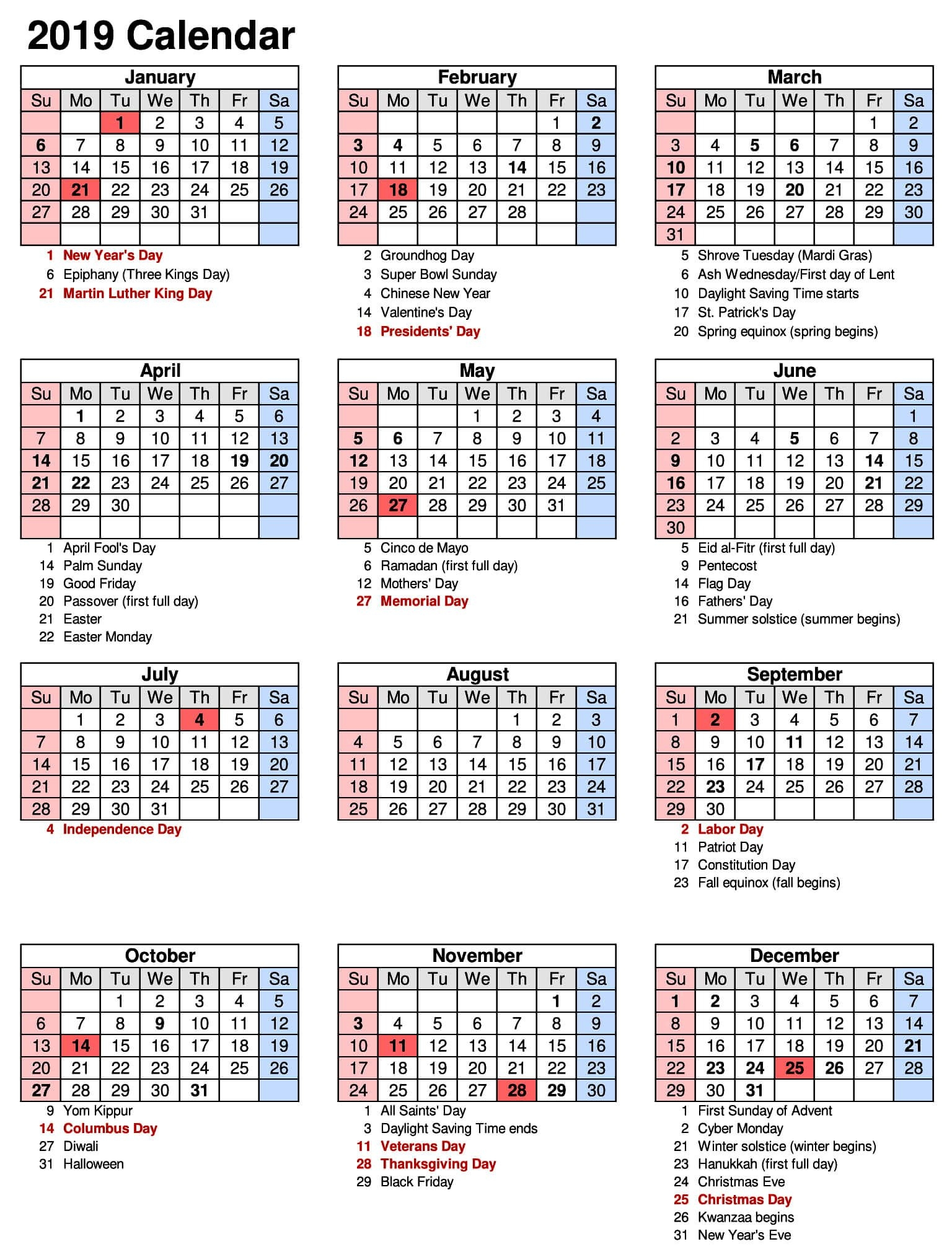 Printable Full Year Calendar 2019 Staples – 2018 Printable Calendar Calendar 2019 Staples