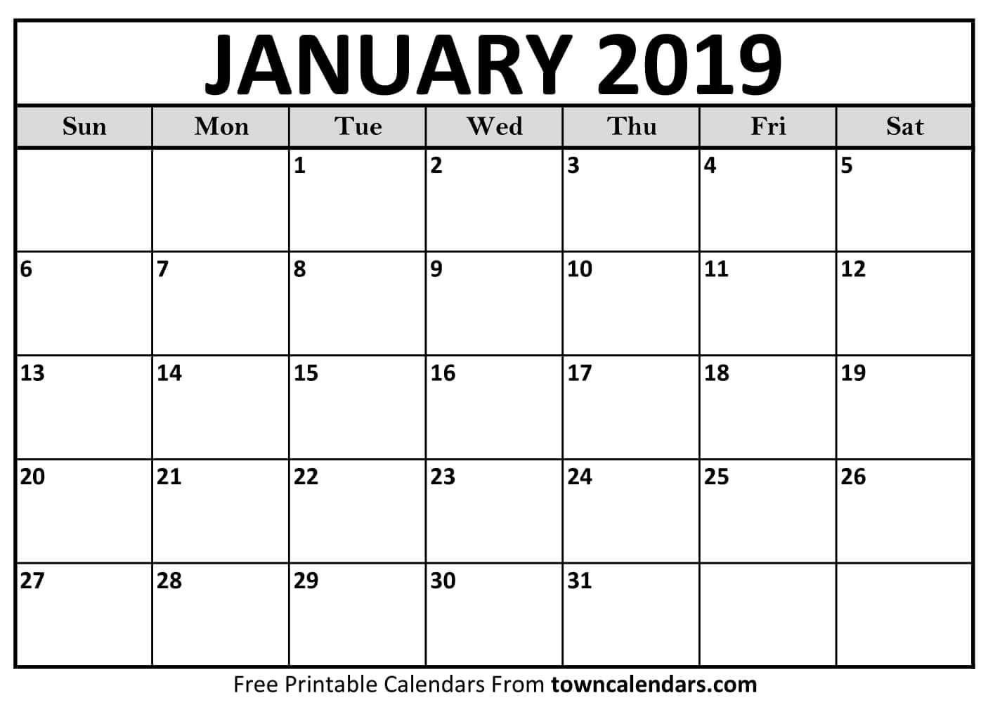 Printable January 2019 Calendar | Free January 2019 Calendar Calendar 2019 Google