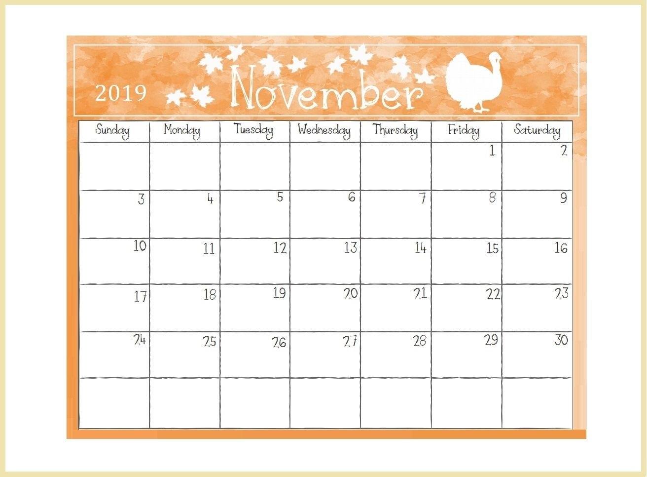 Printable November 2019 Desk Calendar | Calendars | Pinterest | Desk Calendar 2019 Summer