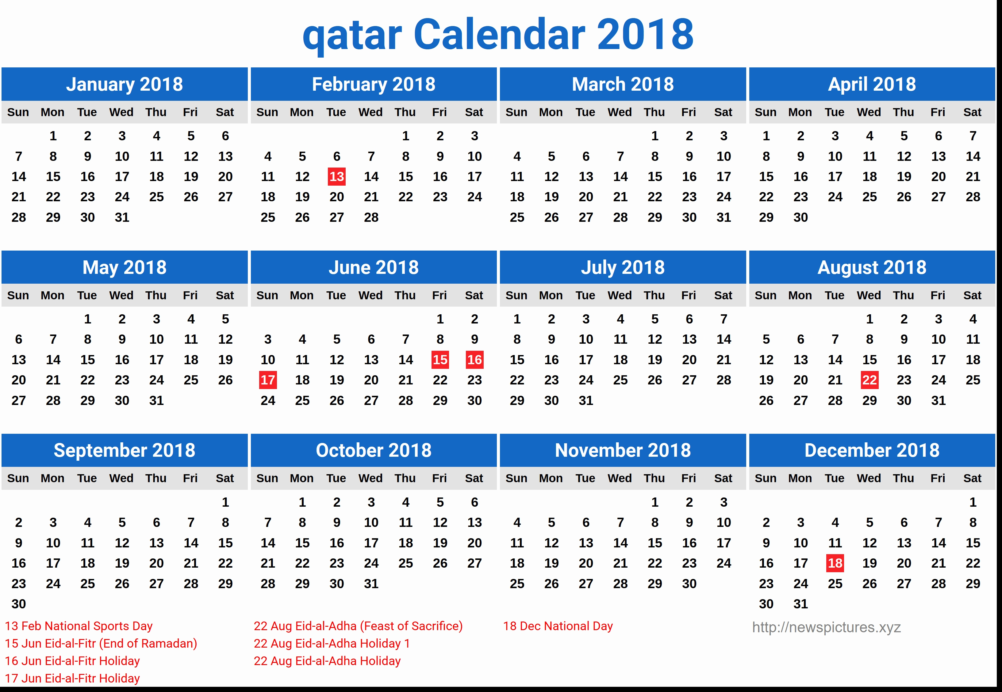 Qatar Calendar 2019 With Hong Kong Free 2018 Printable | Seimado Calendar 2019 Hong Kong