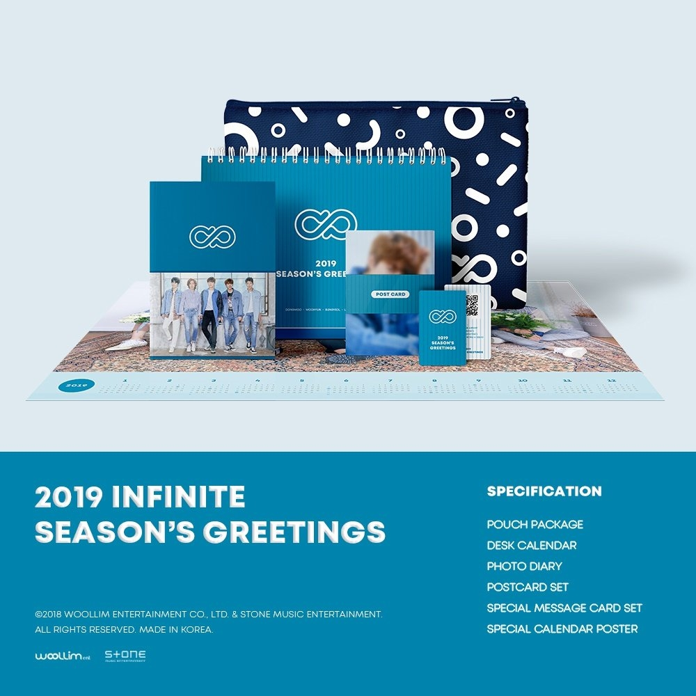 Qoo10 - 2019 Infinite Sg : Cd & Dvd Calendar 2019 Qoo10