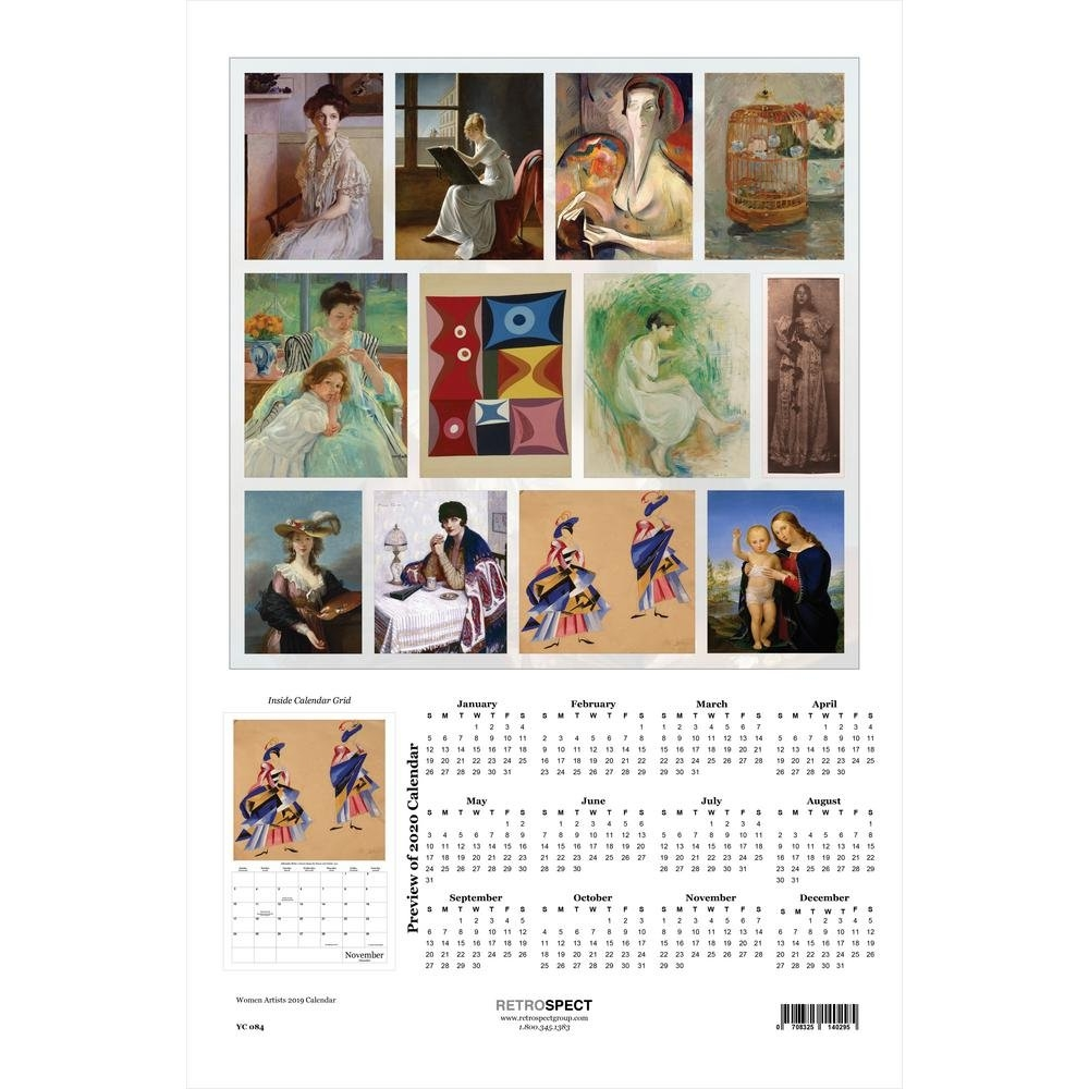 Retrospect 19 In. X 12.5 In. Women Artists - 2019 Calendar-Yc 084 Calendar 2019 Artist