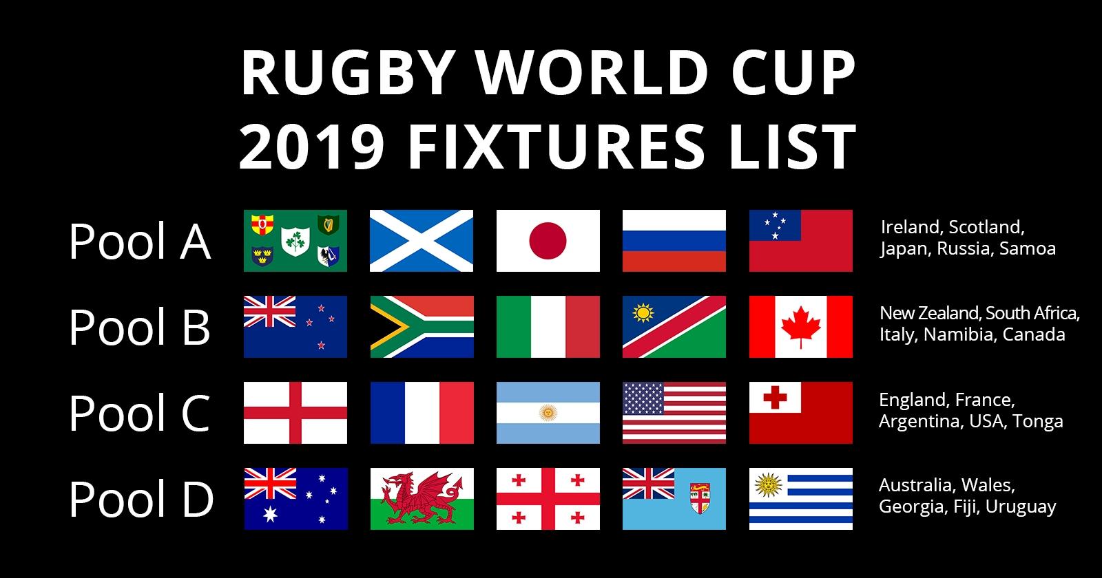Rugby World Cup 2019 Fixtures | Autumn Internationals 6 Nations Calendar 2019