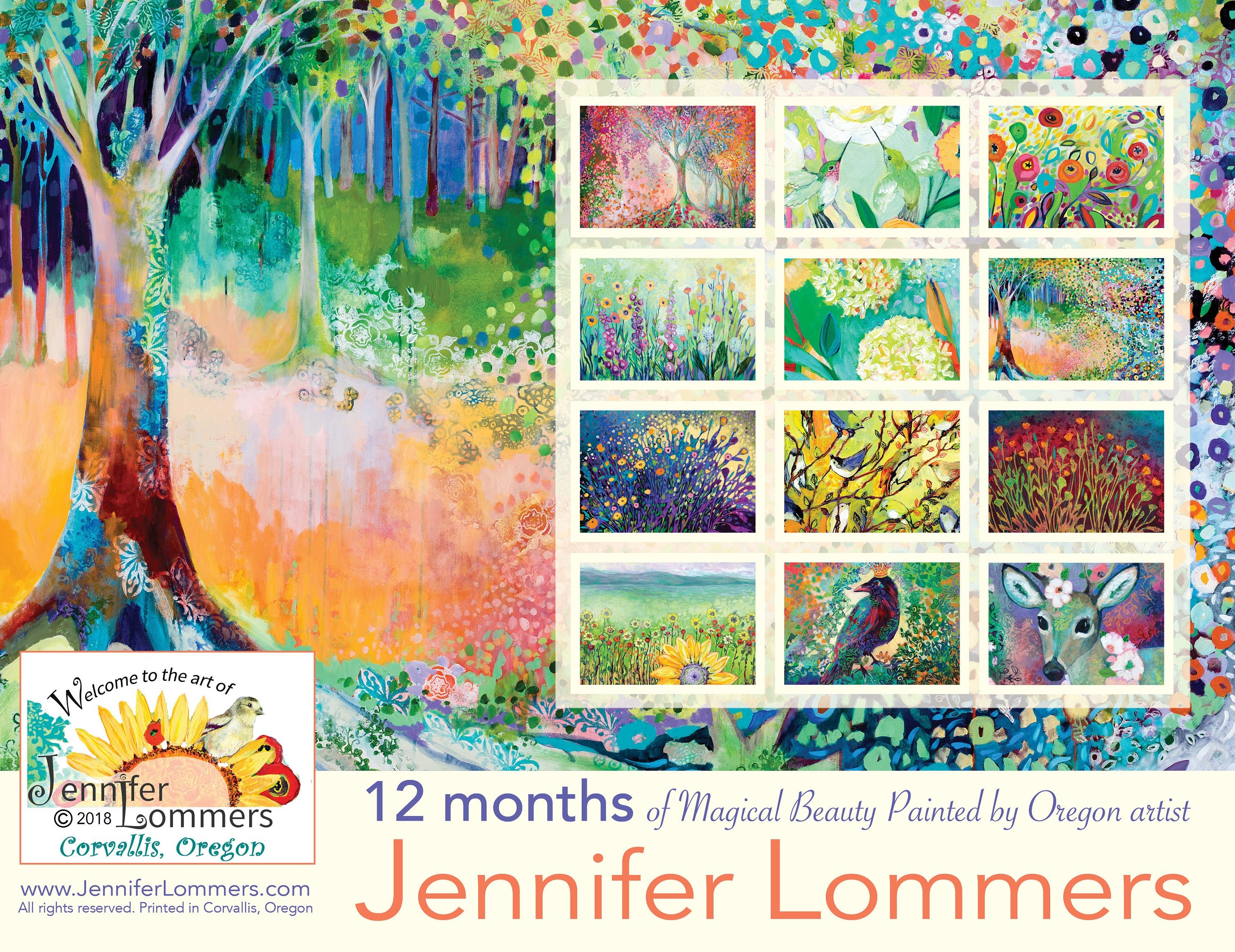 Sale! A Magical World 2019 Calendar Of Artjenlo Calendar 2019 Artist