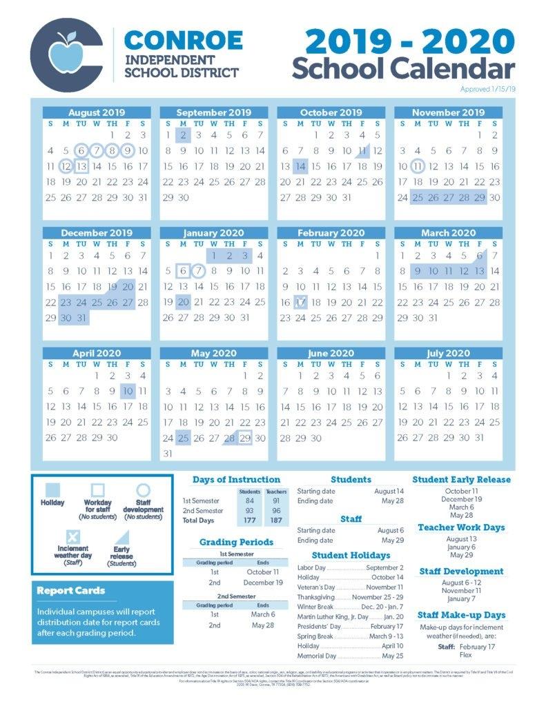 School Calendar Process - Conroe Isd Texas A&m Calendar 2019