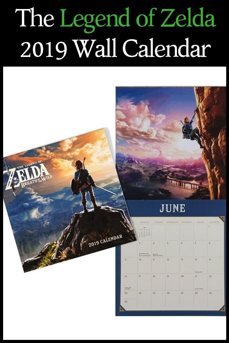 Set Off On An Epic Journey With Link As He Embarks On A Series Of Zelda Calendar 2019