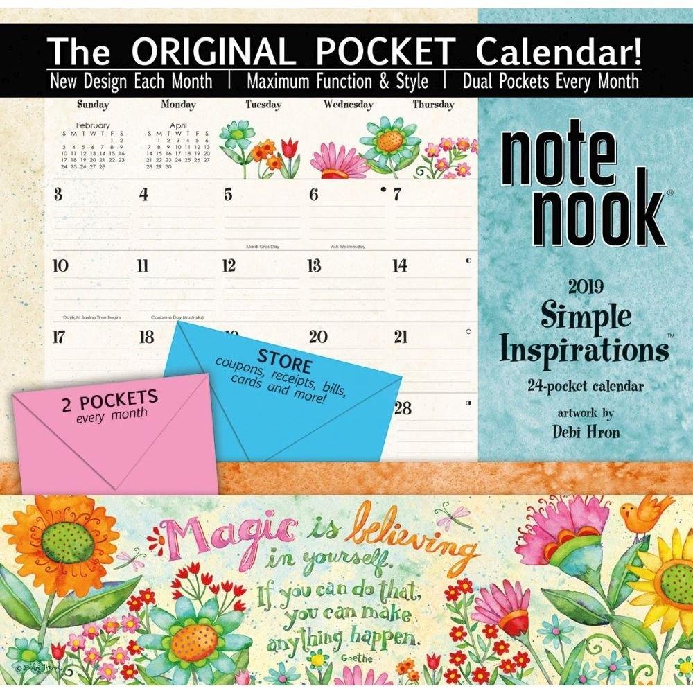 Simple Inspirations 2019 Pocket Wall Calendar-Calendars-Books Calendar 2019 With Pockets