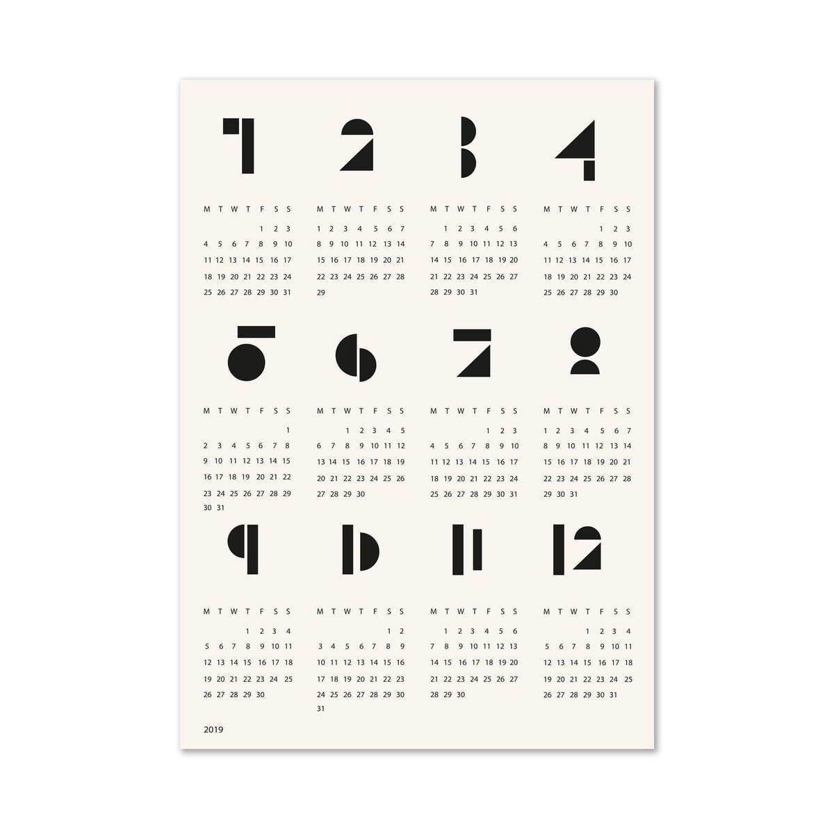 Snug Poster Calendar Toyblocks | Connox Calendar 2019 Neu