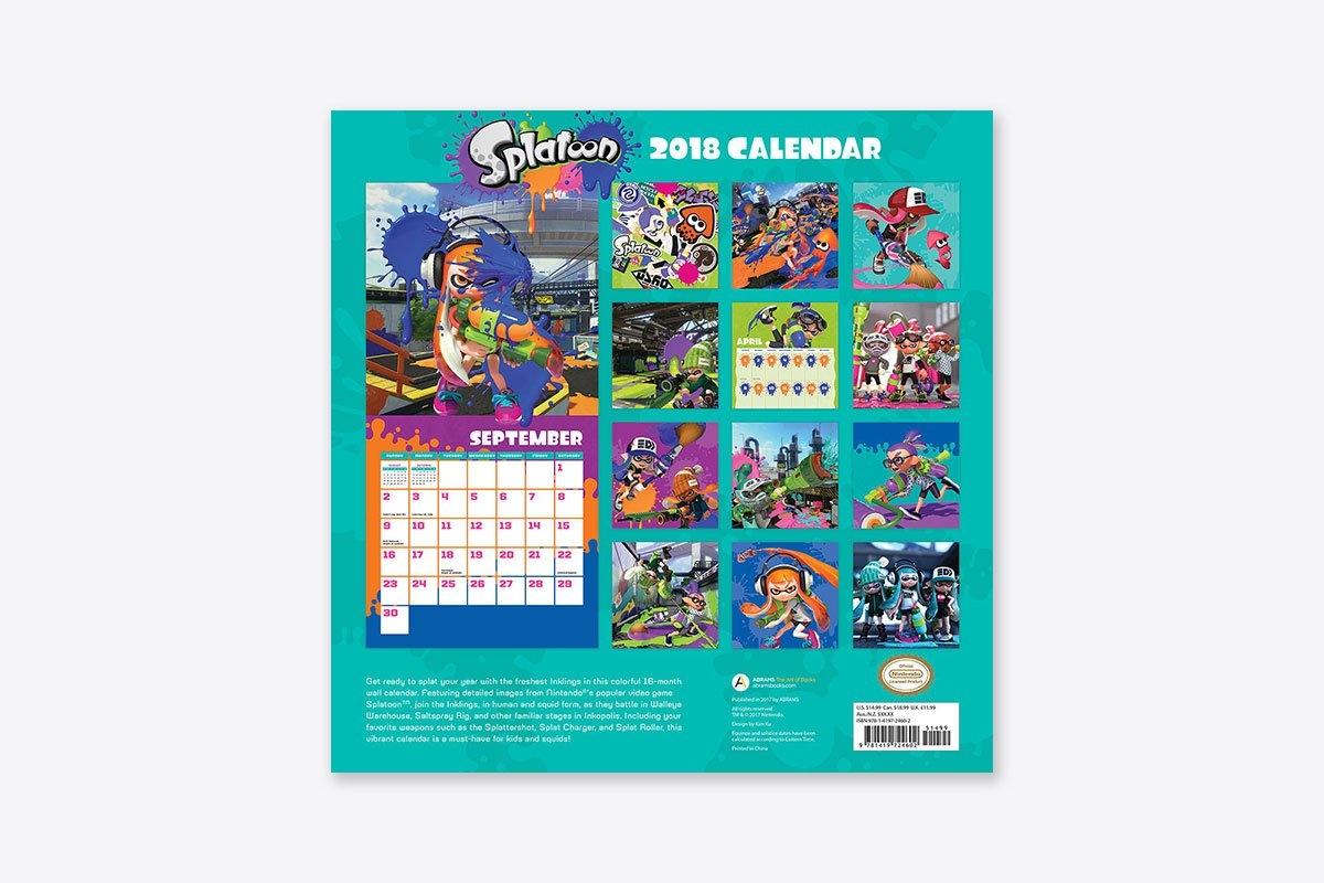 Splatoon™ 2018 Wall Calendar (Wall) | Abrams Splatoon 2 Calendar 2019