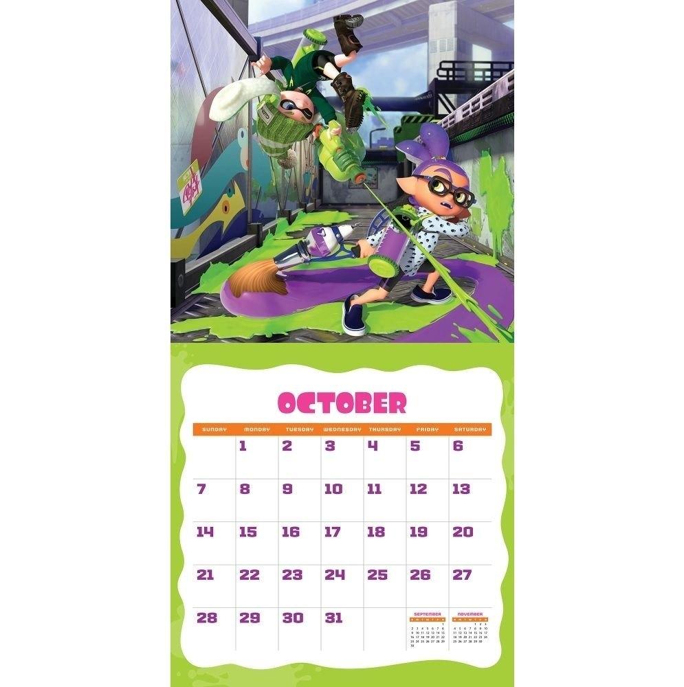 Splatoon Calendar October 2018 | Calendar 2018 | Calendar, Calendar Splatoon 2 Calendar 2019