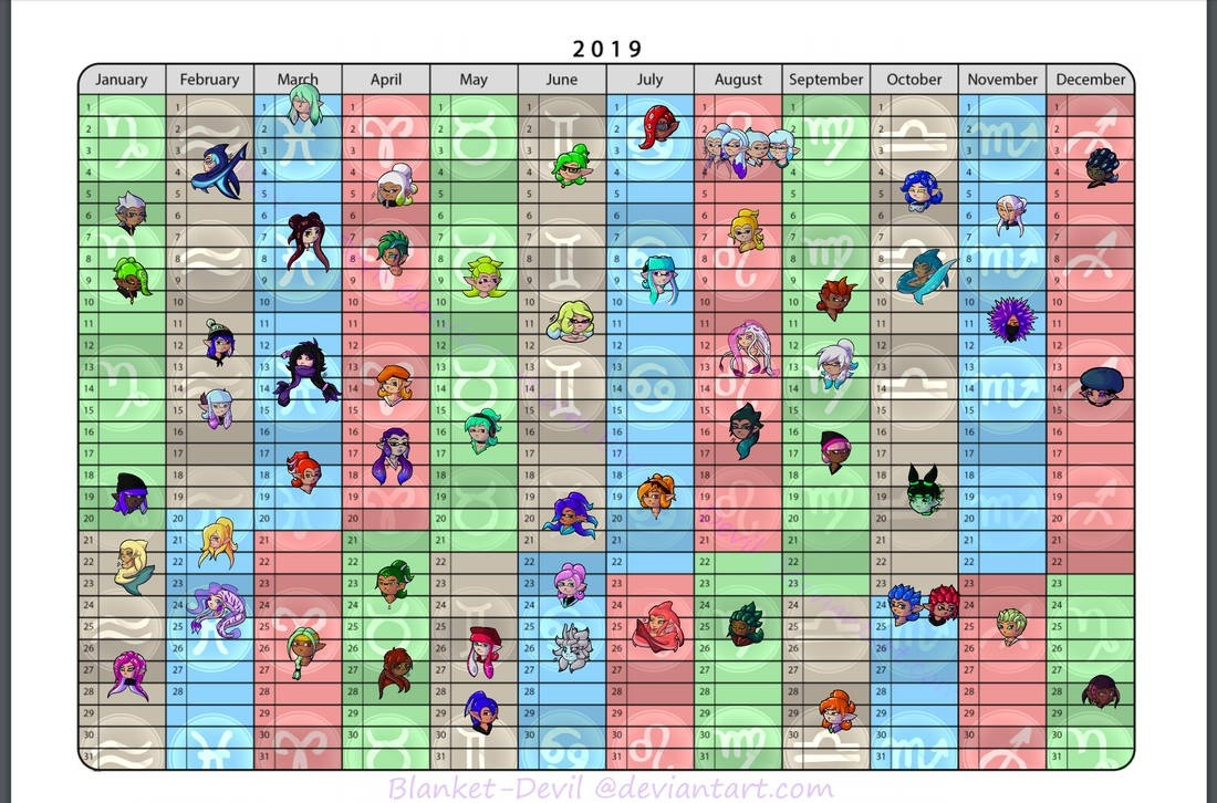 Splatoon Oc: Birthday Calendarblanket-Devil On Deviantart Splatoon 2 Calendar 2019