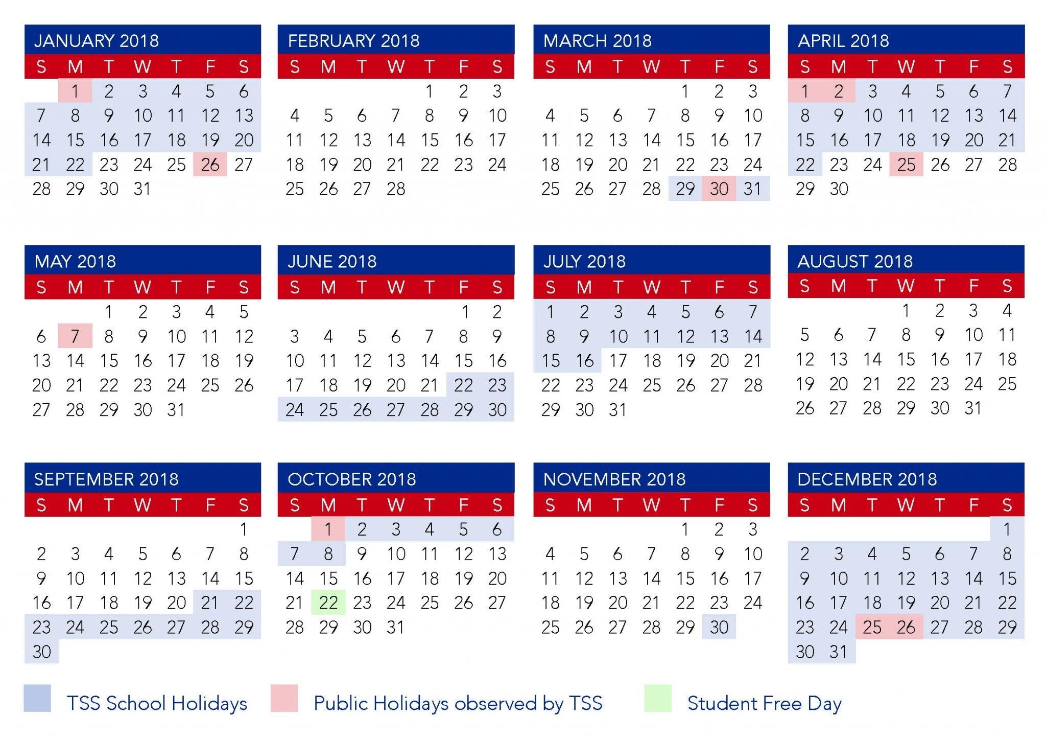 Term Calendar Dates | The Southport School Calendar 2019 Qld School