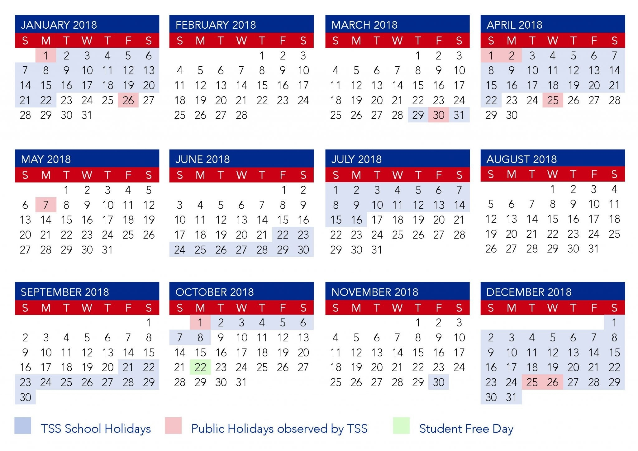 Term Calendar Dates | The Southport School Calendar 2019 Qld