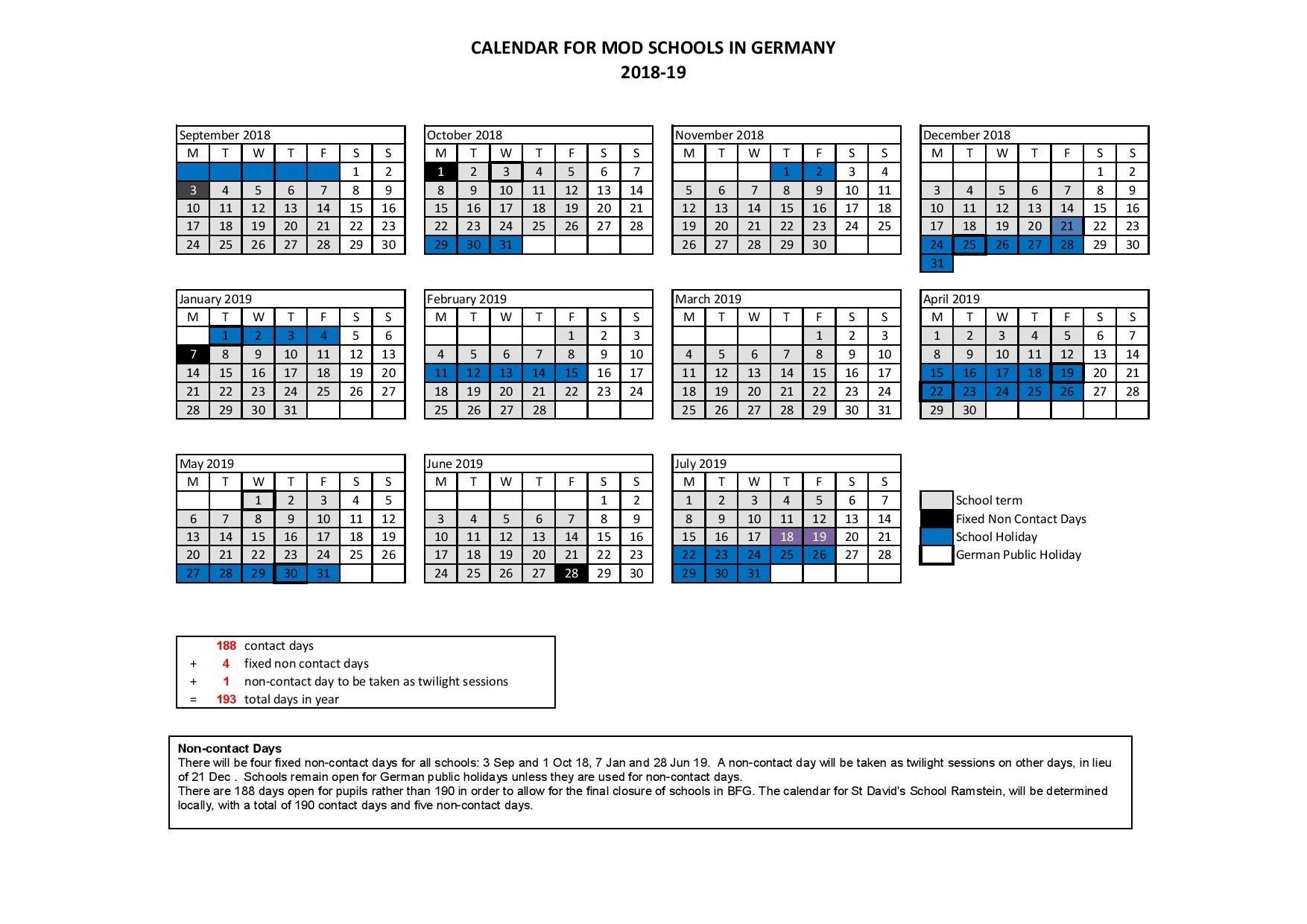 Term Dates - Attenborough School Calendar 2019 Germany Holidays