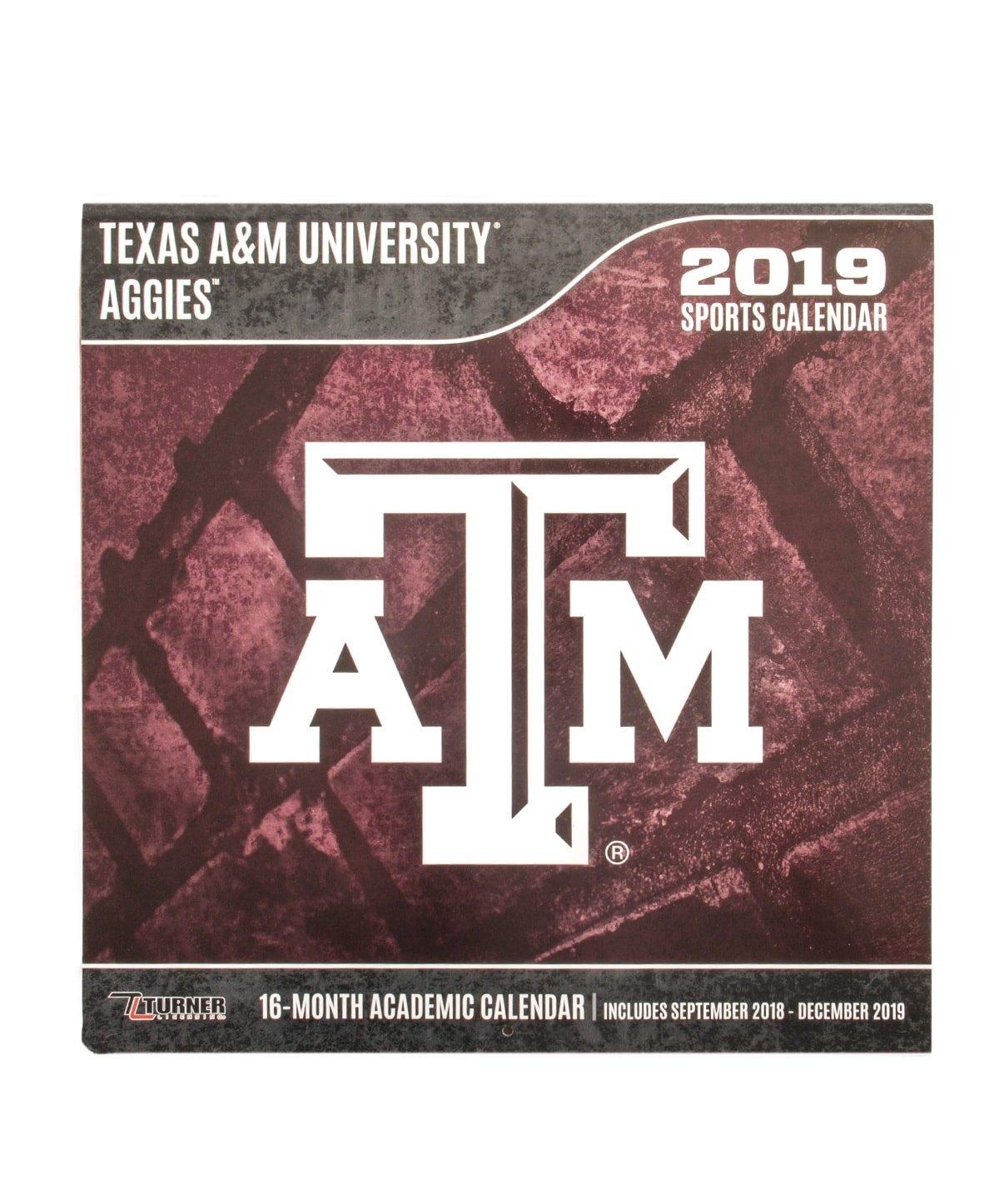 Texas A&m Aggies 2019 Team Wall Calendar Maroon | Aggieland Outfitters Texas A&m Calendar 2019