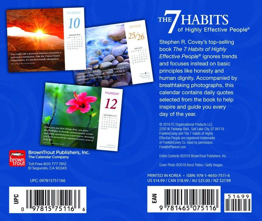 The 7 Habits Of Highly Effective People 2019 Desktop Box Calendar 7 Habits Calendar 2019