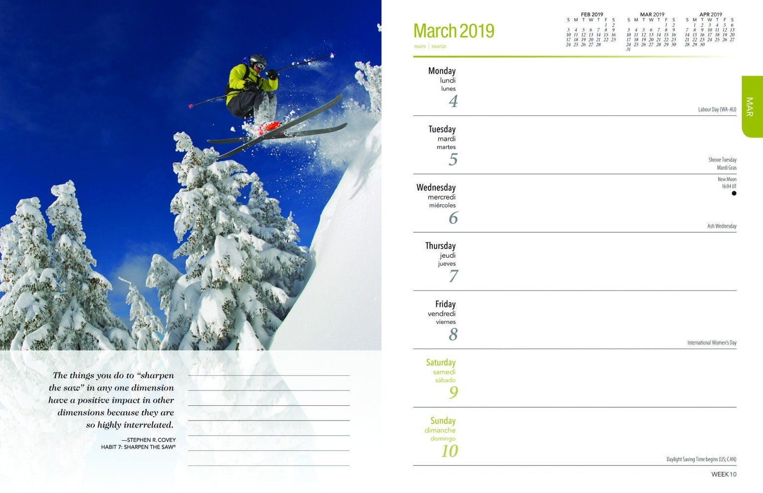 The 7 Habits Of Highly Effective People 2019 Engagement Calendar 7 Habits Calendar 2019