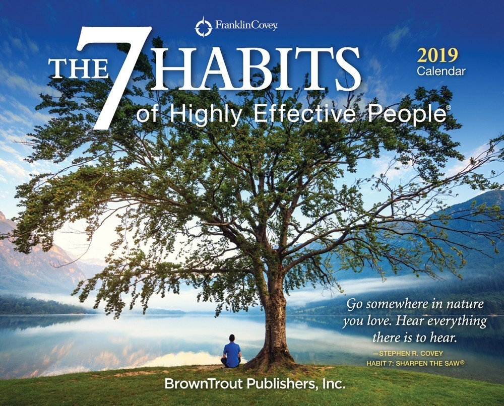 The 7 Habits Of Highly Effective People 2019 Page-A-Day Desktop Box 7 Habits Calendar 2019