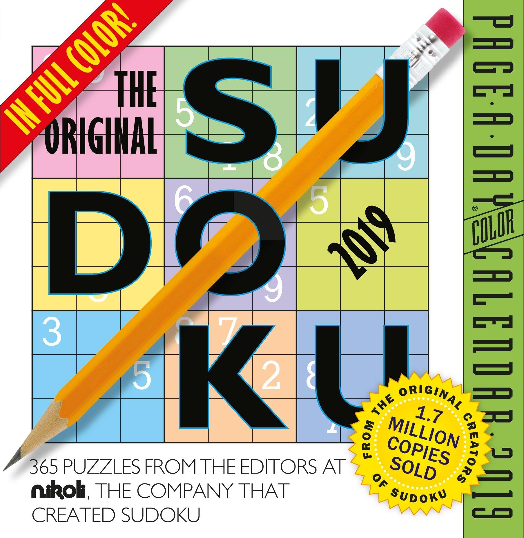 The Original Sudoku Page-A-Day Calendar 2019 - Walmart Calendar 2019 At Walmart