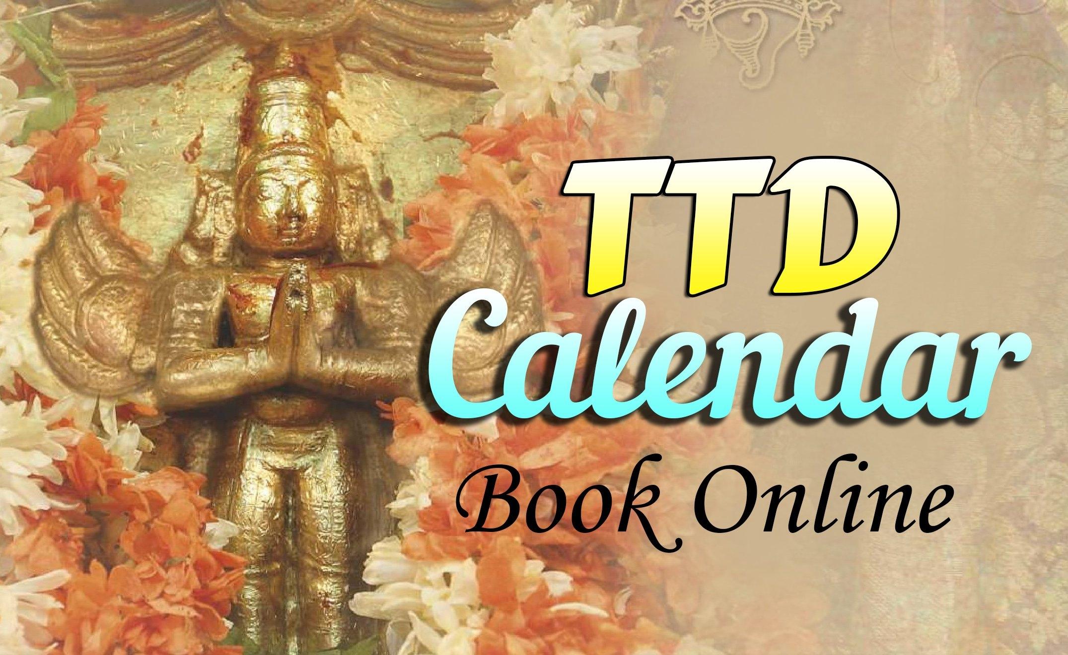 Ttd Calendars, Dairy Online Booking - Ttd Seva Online % T T D Calendar 2019