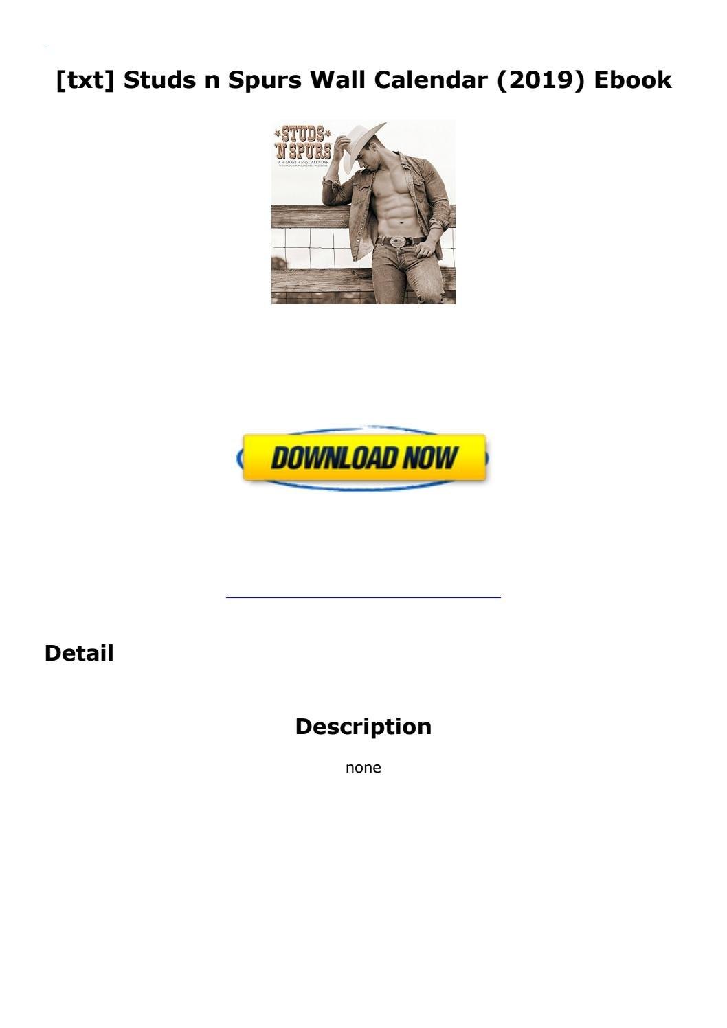 Txt] Studs N Spurs Wall Calendar (2019) Ebookemlpro437 - Issuu Studs N Spurs Calendar 2019