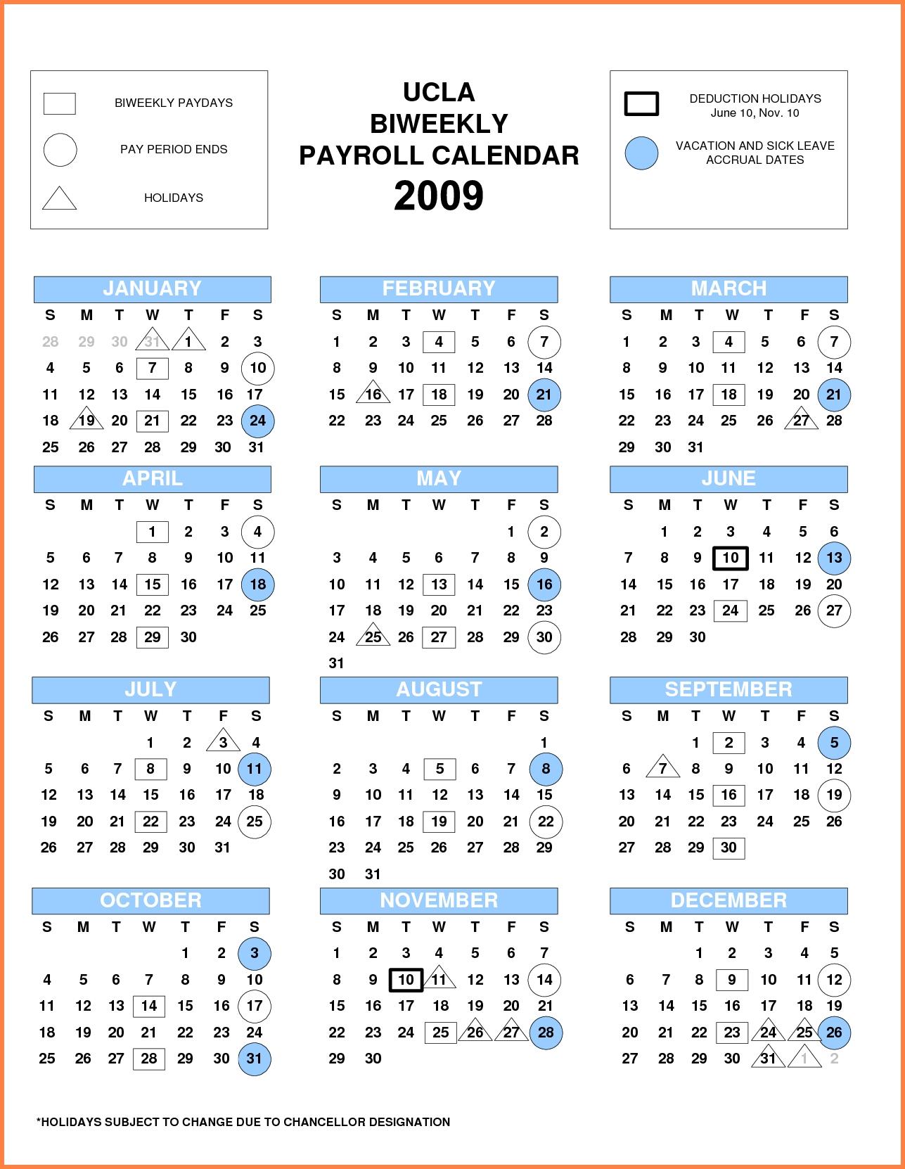 Ucla Monthly Payroll Calendar 2018 | Payroll Calendars Calendar 2019 Ucla
