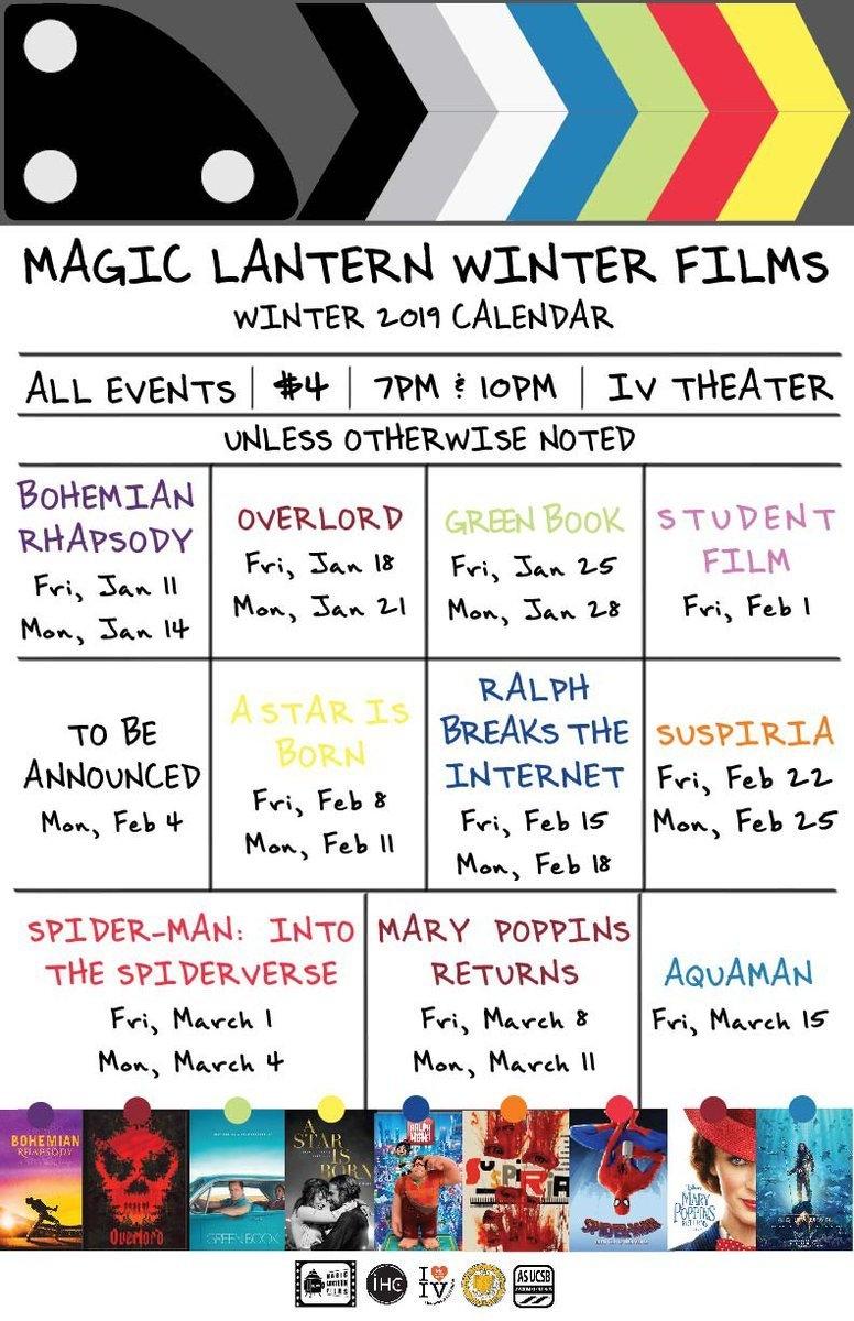 Ucsb Magic Lantern (@magiclanternsb)   Twitter Calendar 2019 Ucsb