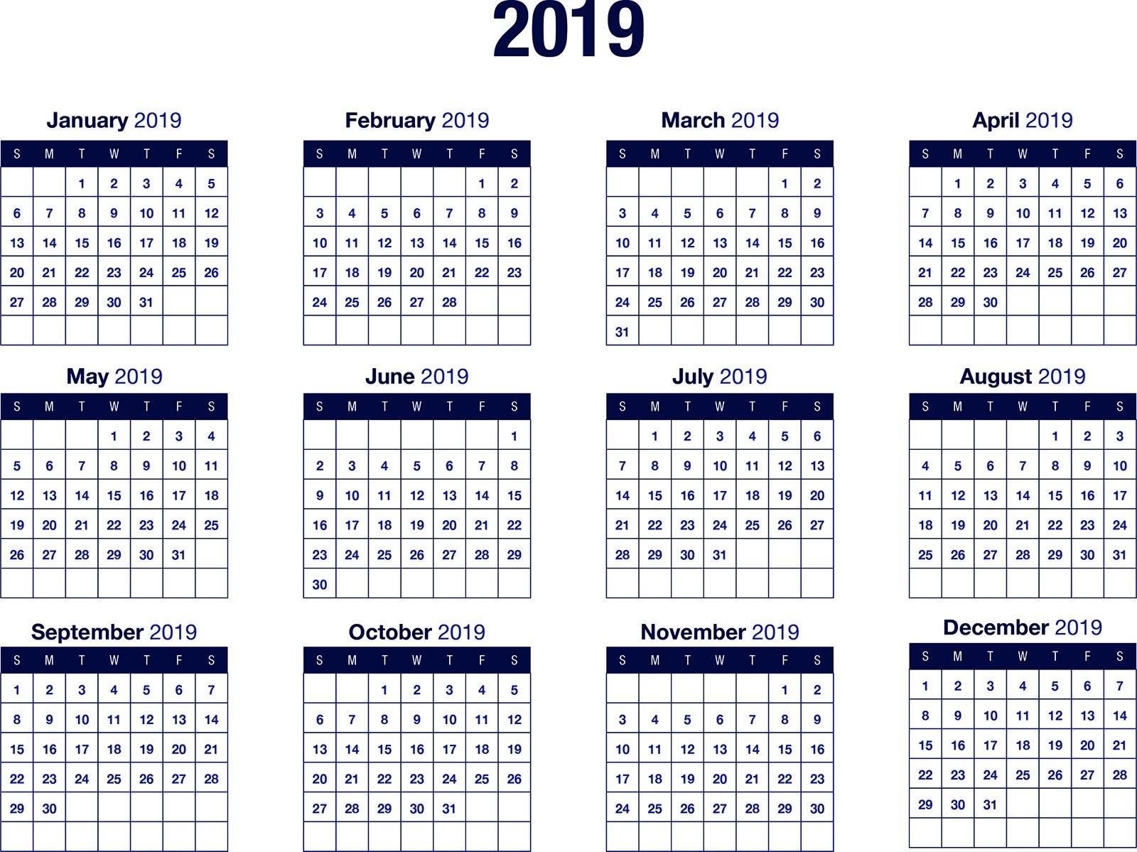 Vertex42 Calendar 2019 – Printable 2018 Calendar Templates Pdf Excel Calendar 2019 Vertex 42