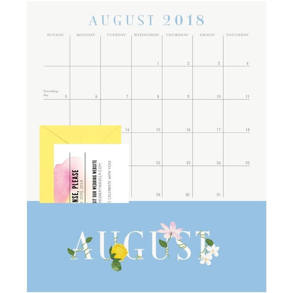 Viney Letters Acad Pocket 2019 Wall Calendar-Calendars-Books Calendar 2019 With Pockets