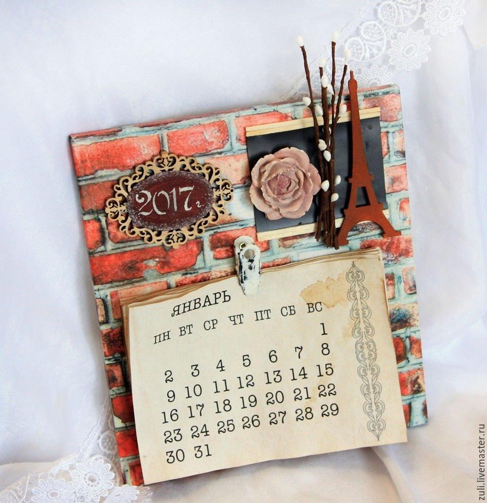 """Wall Calendar, 2019. """" Loft"""" – Shop Online On Livemaster With Calendar 2019 Shop"""