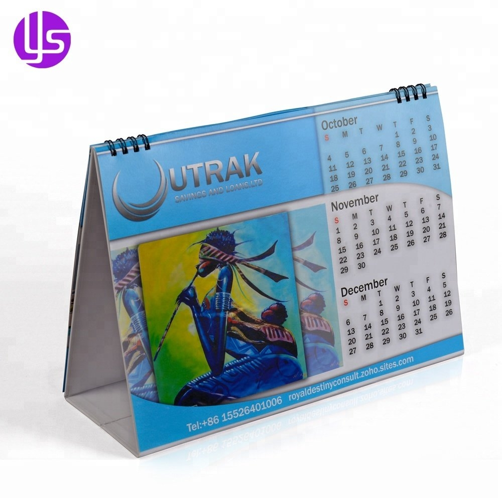 Wholesale 2019 Cheap Full Color Printing Custom Table Desk Calendar Calendar 2019 Cheap