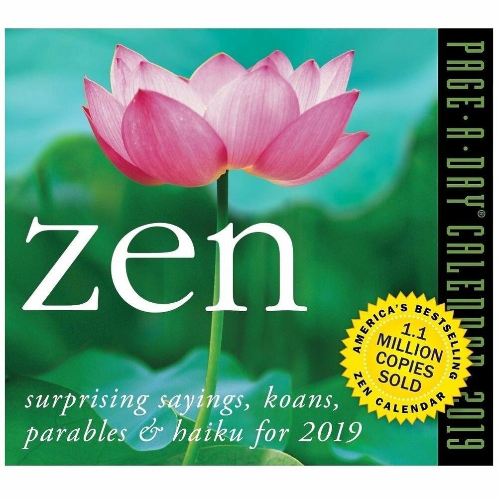 Workman Publishing Zen Desk Calendar, More Inspirationcalendars 2019 Calendar Zen