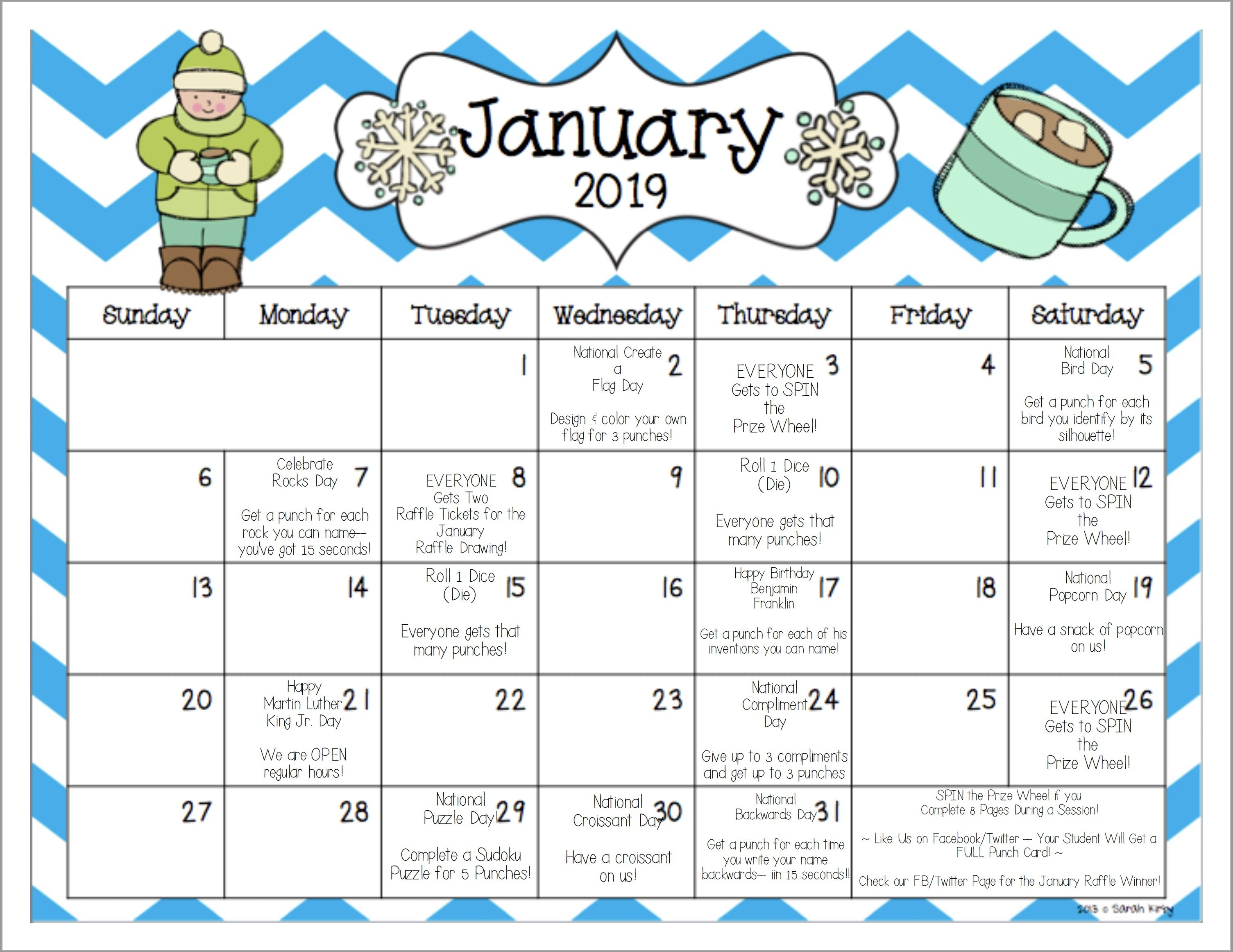 Www.mathnasium/january 2019 Fun Calendar | Mathnasium Rock N Roll Calendar 2019