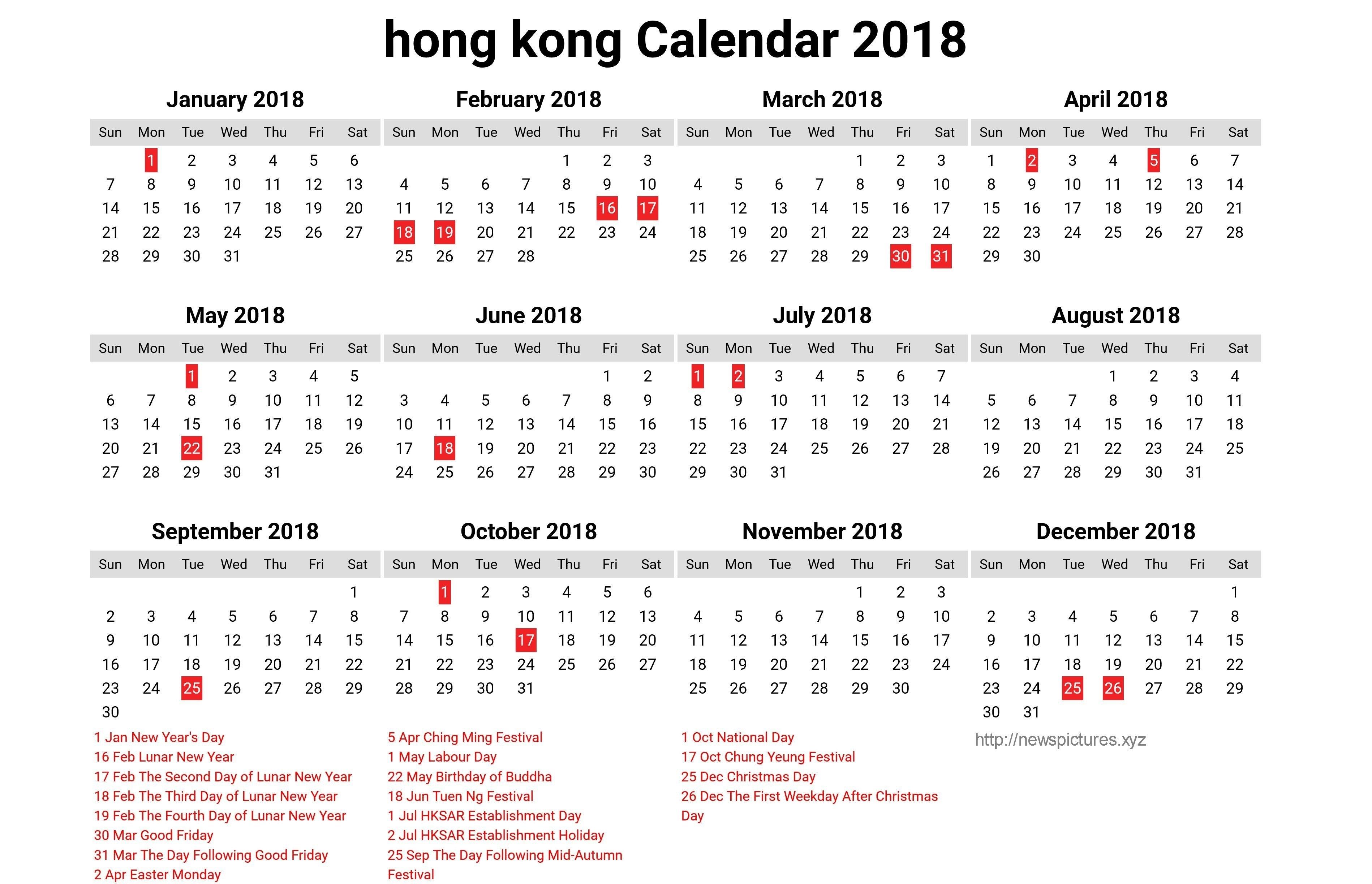 Year 2019 Calendar Hong Kong Hk - Littledelhisf Calendar 2019 Hong Kong