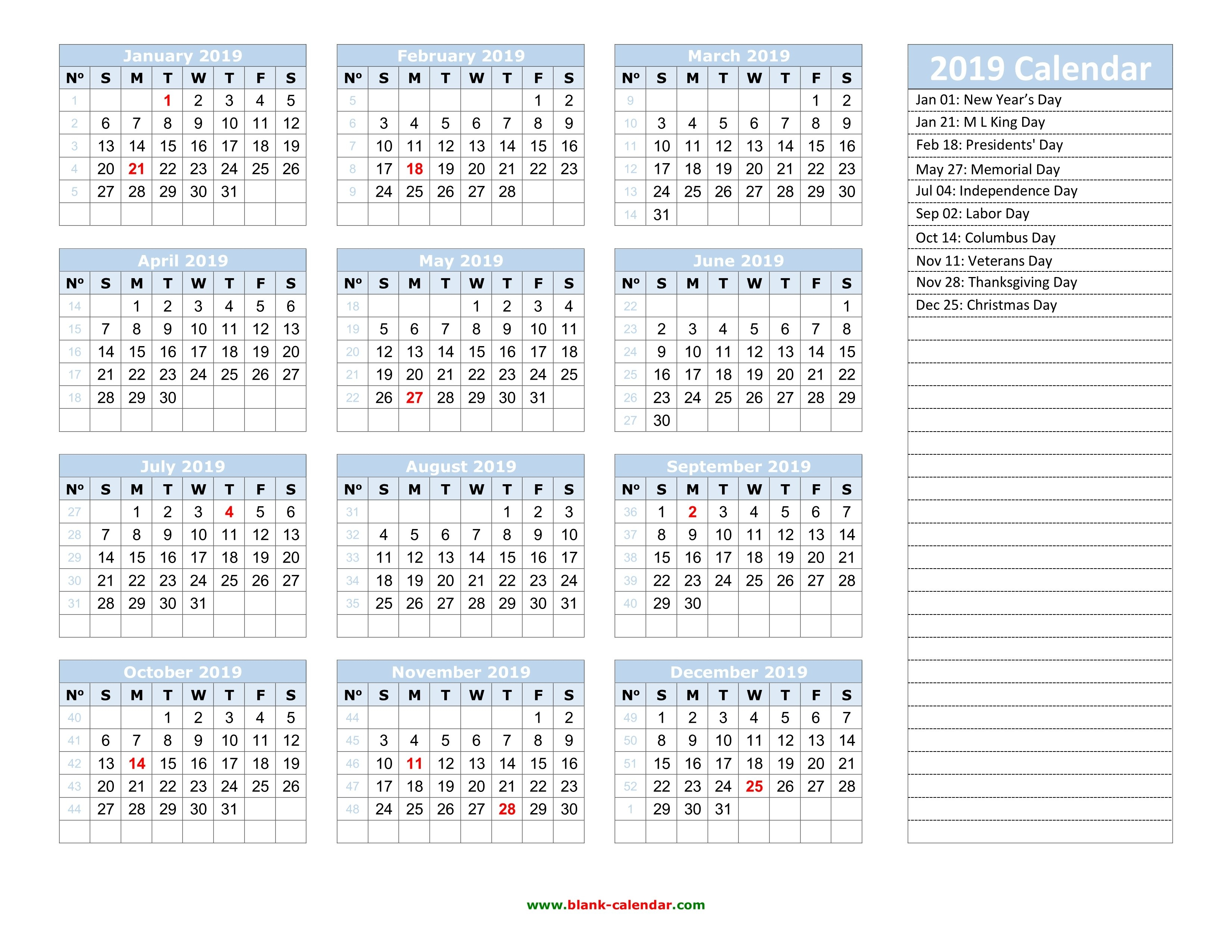 Yearly Calendar 2019 | Free Download And Print Calendar Week 50 2019