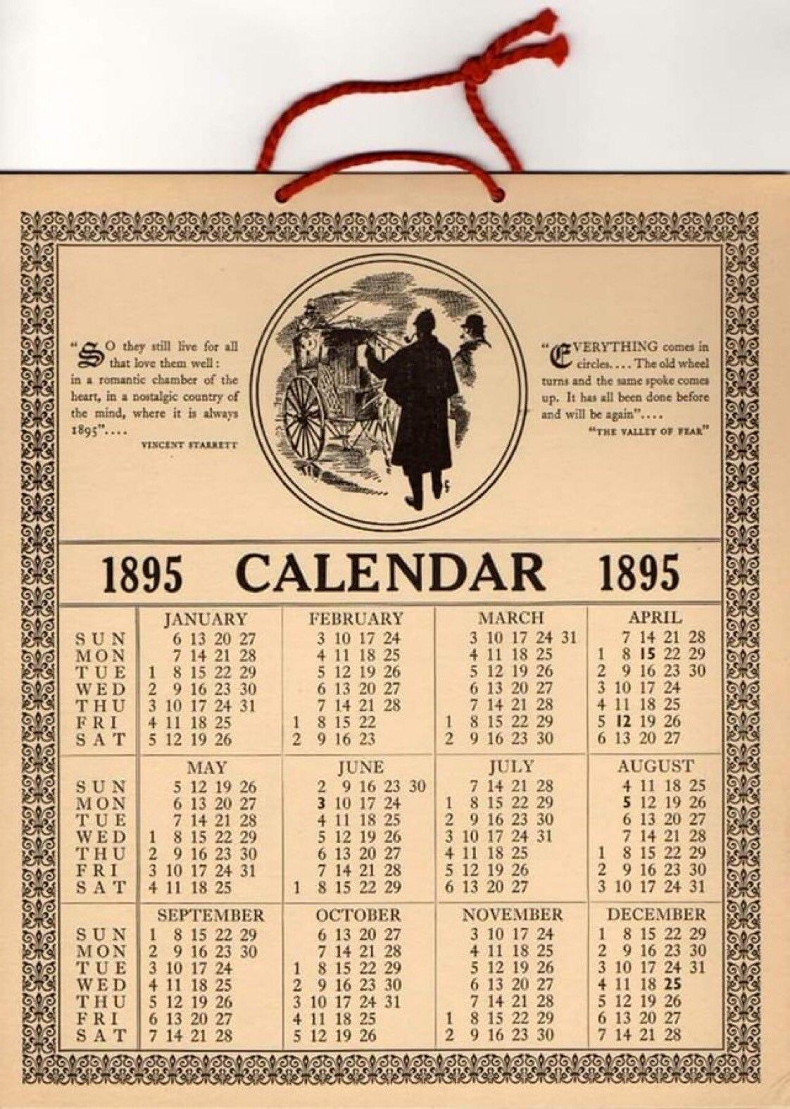 You Can Reuse Your 1895 Calendar As A 2019 Calendar : Mildlyinteresting Calendar 2019 Same As