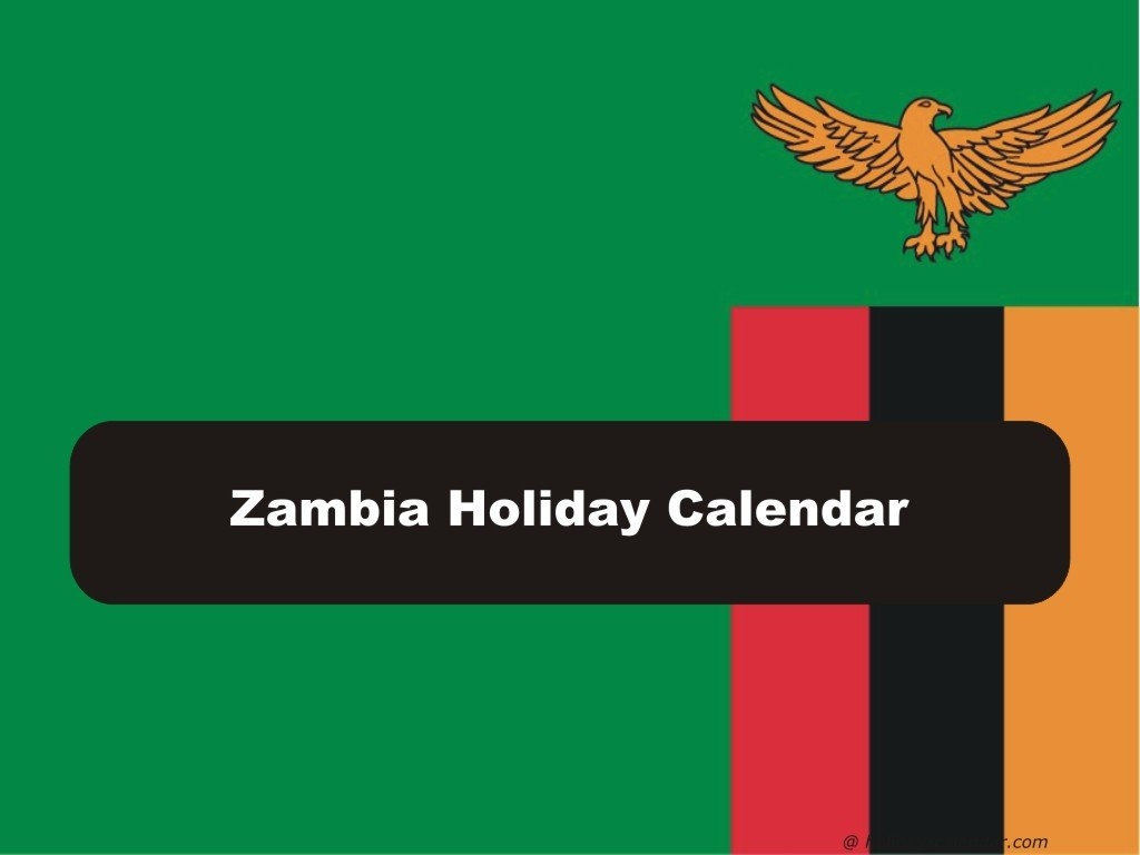 Zambia 2019 / 2020 Holiday Calendar Calendar 2019 Zambia