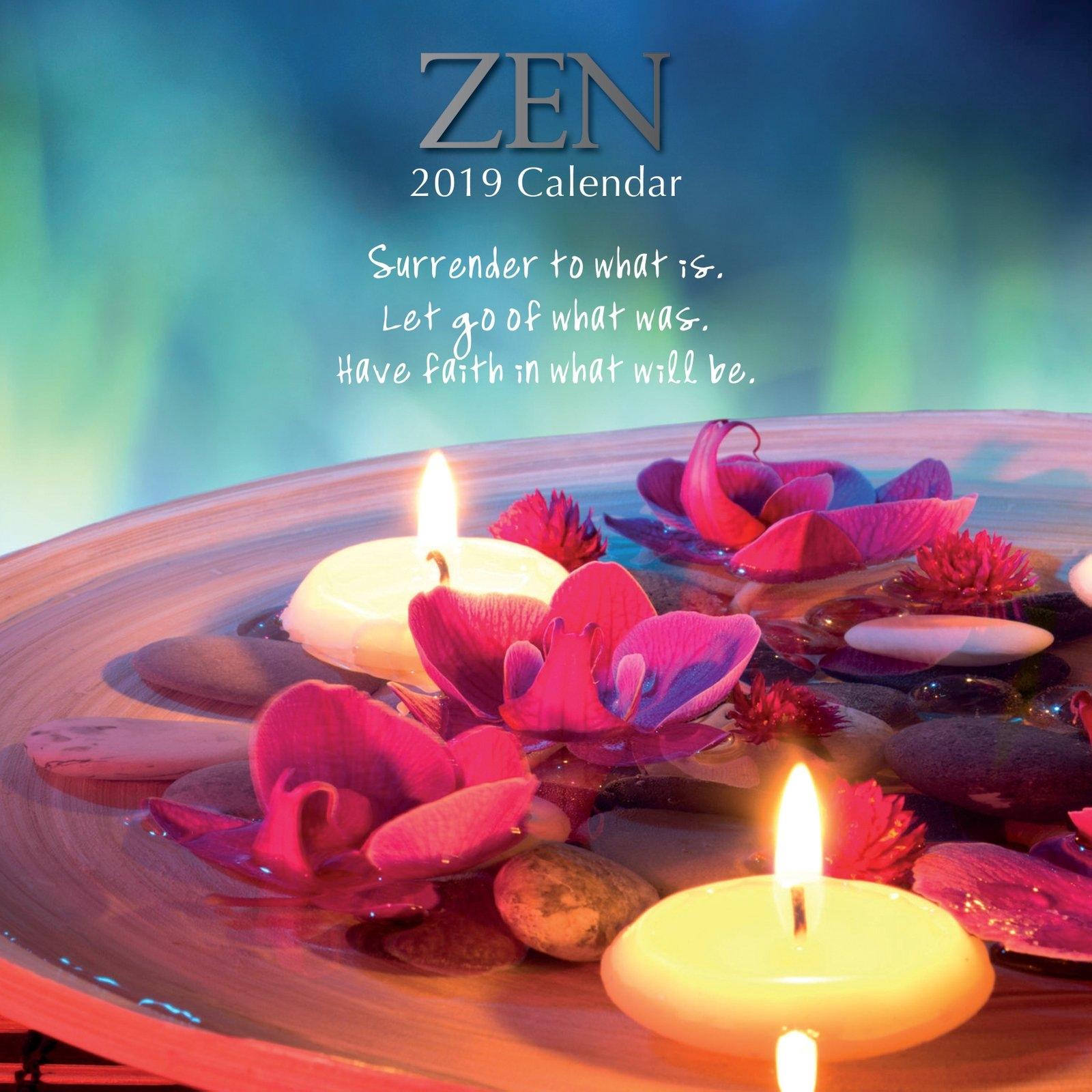 Zen - 2019 Wall Calendar 16 Month Premium Square 30X30Cm (N 2019 Calendar Zen