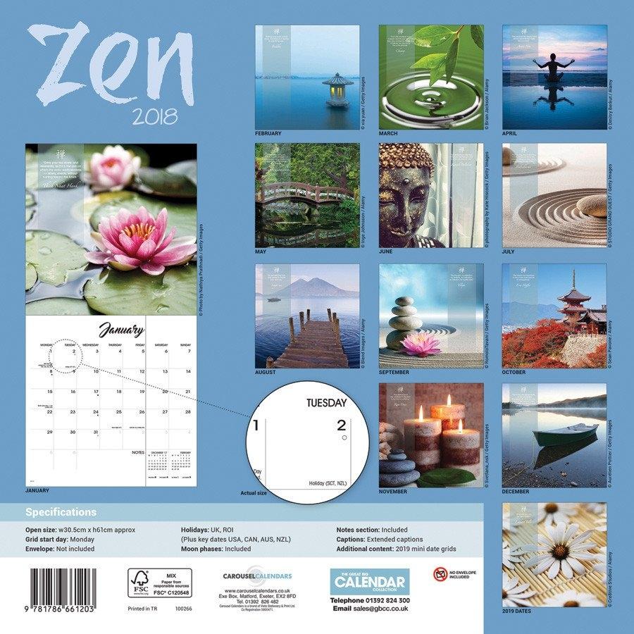 Zen - Calendars 2019 On Ukposters/abposters 2019 Calendar Zen