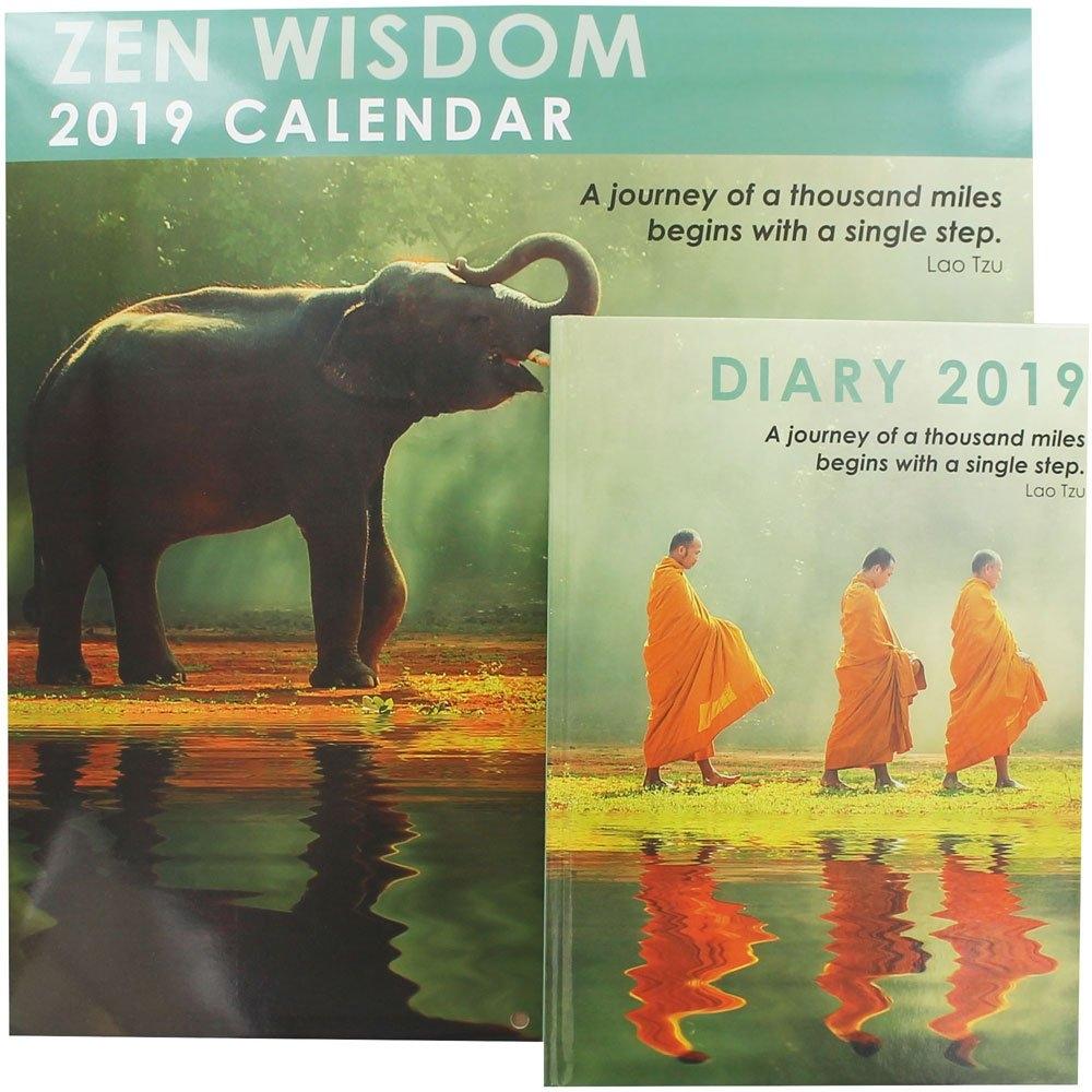 Zen Wisdom 2019 Calendar And Diary Set 2019 Calendar Zen