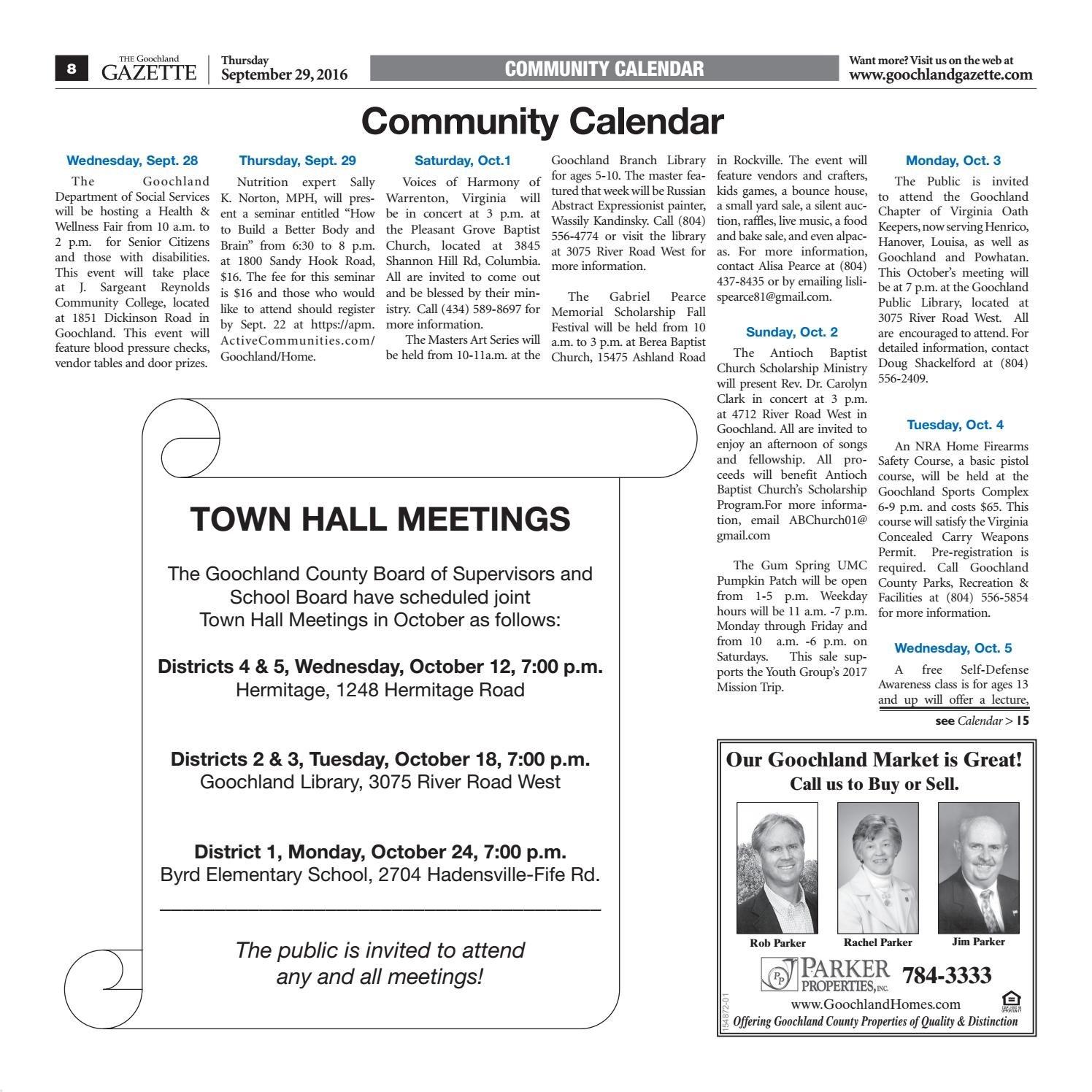 09/29/16Goochland Gazette - Issuu J Sargeant Reynolds Calendar 2019