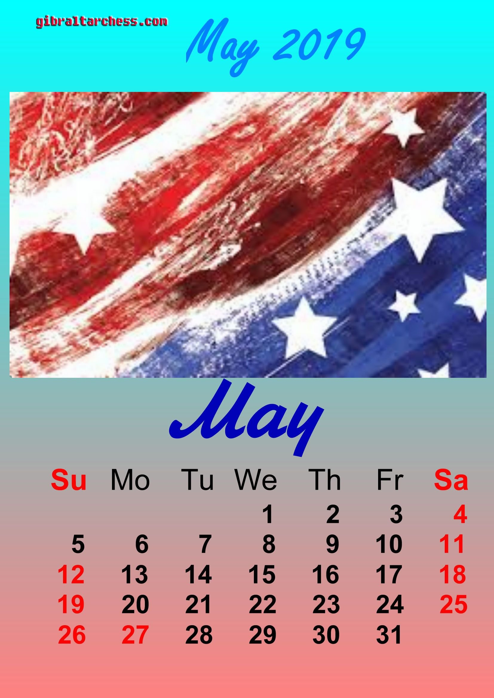 2 May 2019 Holidays Calendar Memorial Day | Calendar Template Calendar 2019 Memorial Day