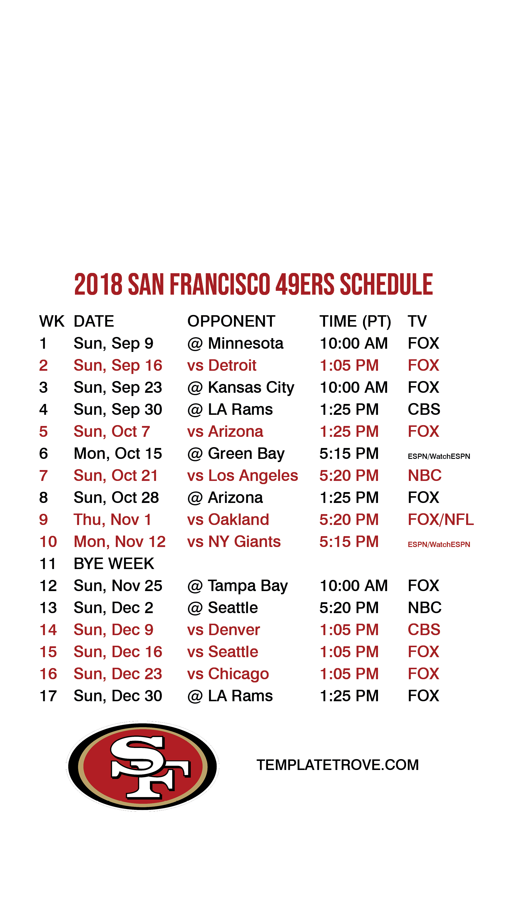 2018-2019 San Francisco 49Ers Lock Screen Schedule For Iphone 6-7-8 Plus 49Ers Calendar 2019
