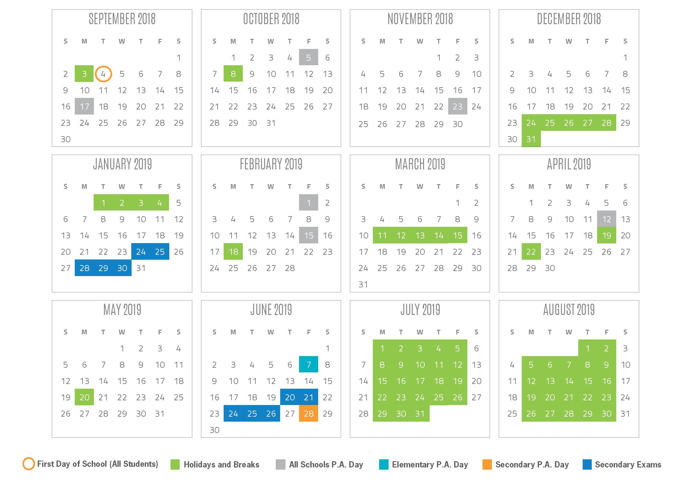 2018-2019 School Year Calendar Calendar 2019 Victoria School Holidays