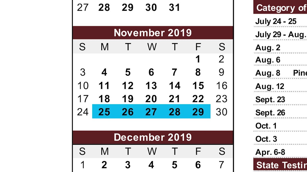 2019 2020 Academic Calendar Overview - Youtube M State Calendar 2019
