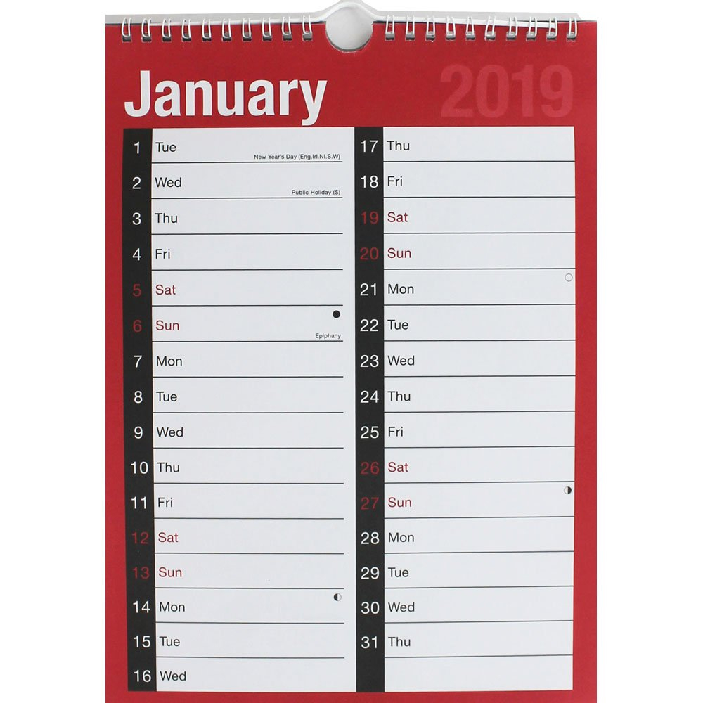 2019 Appointment Calendar | 2019 Calendars At The Works Calendar 2019 Buy